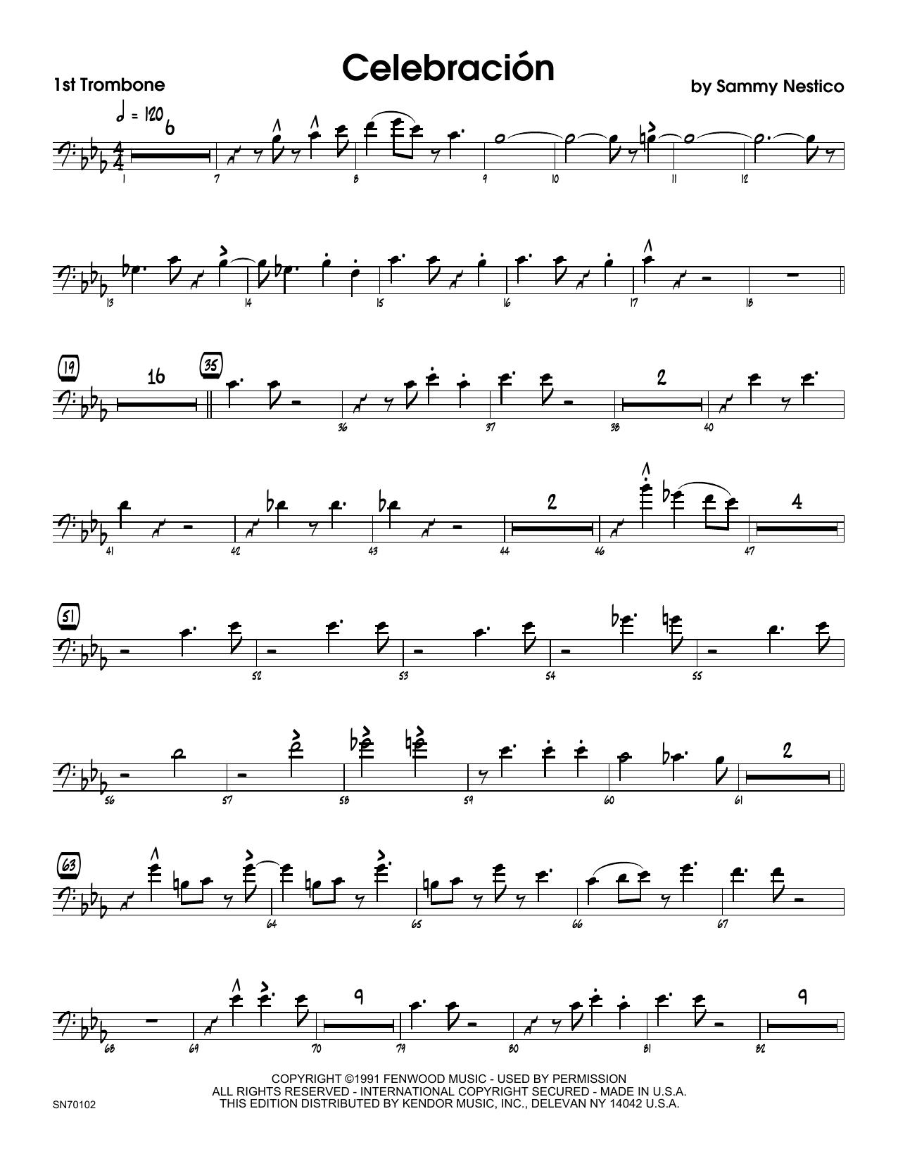 Celebracion - 1st Trombone Sheet Music