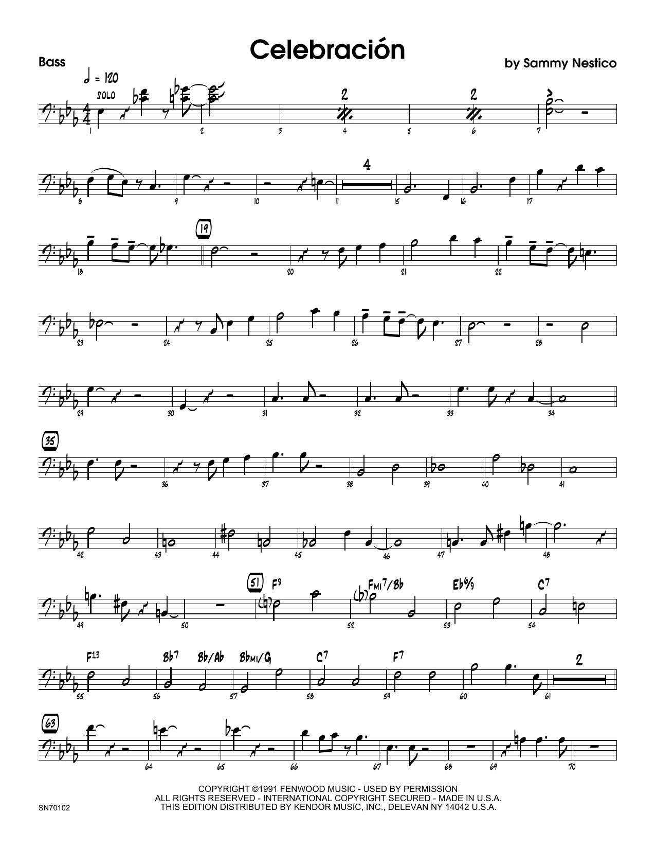 Celebracion - Bass Sheet Music