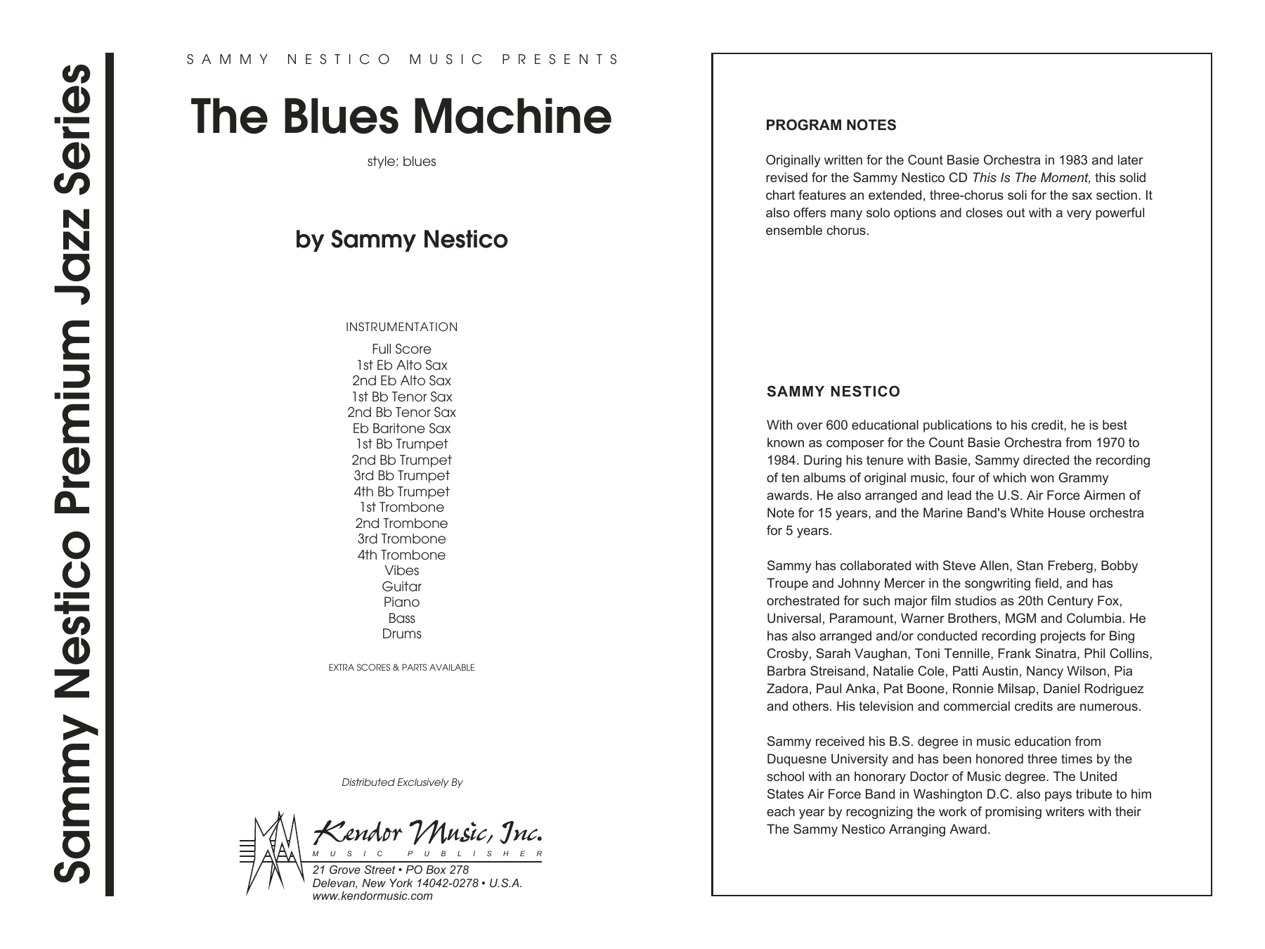 The Blues Machine - Full Score Sheet Music