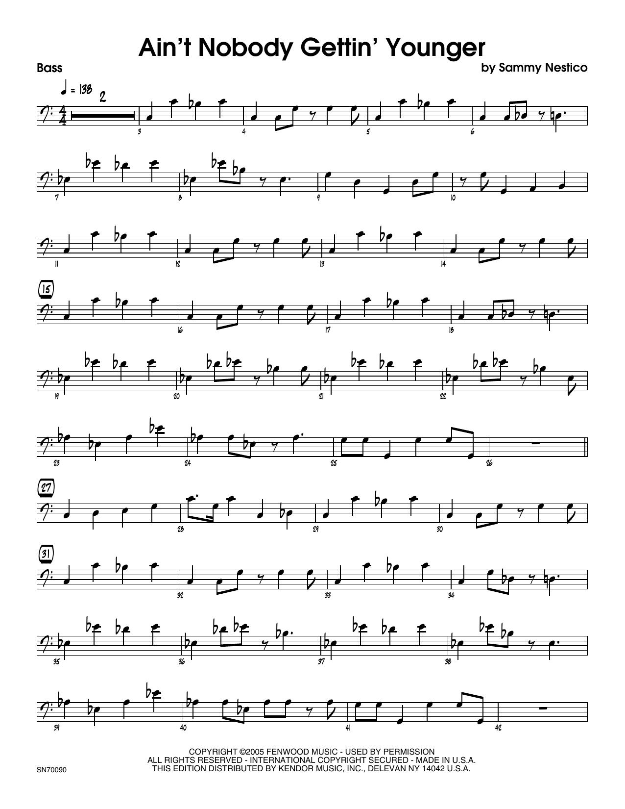 Ain't Nobody Gettin' Younger - Bass Sheet Music
