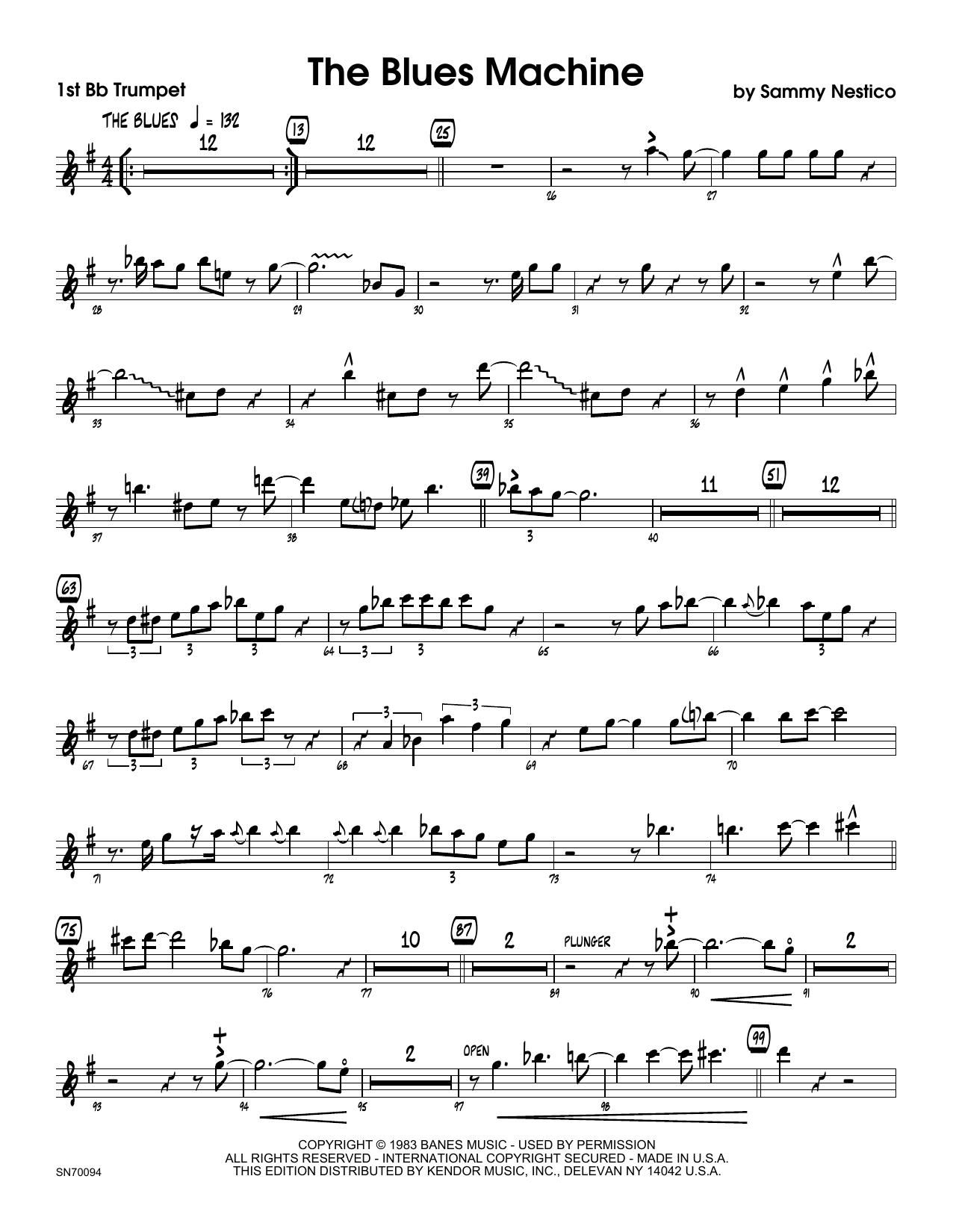 The Blues Machine - 1st Bb Trumpet Sheet Music