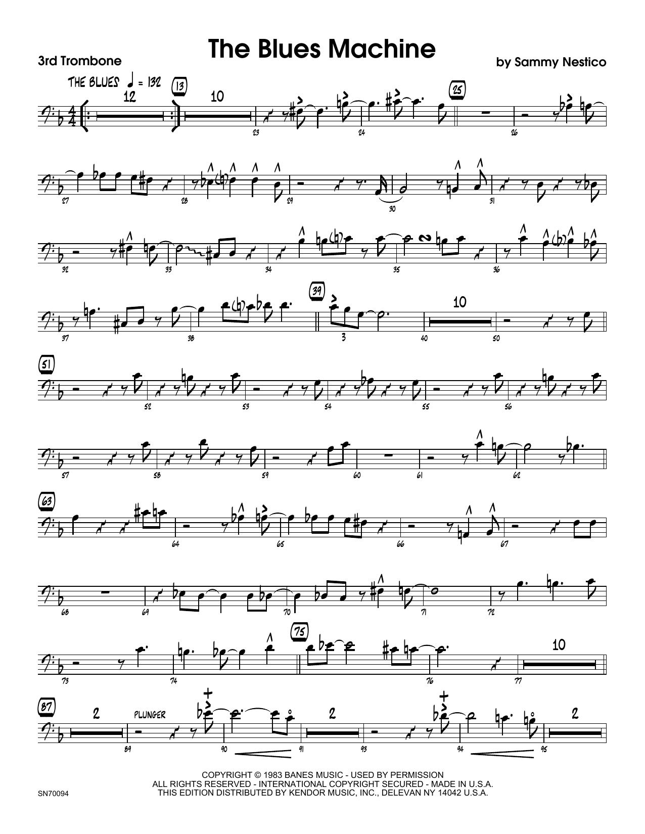 The Blues Machine - 3rd Trombone Sheet Music