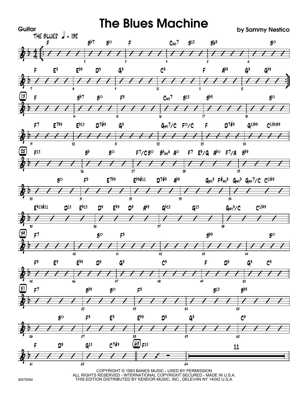 The Blues Machine - Guitar Sheet Music