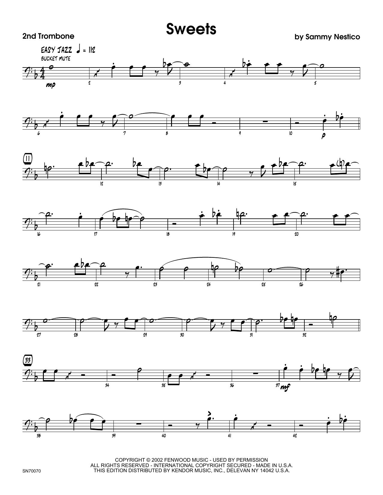 Sweets - 2nd Trombone Sheet Music