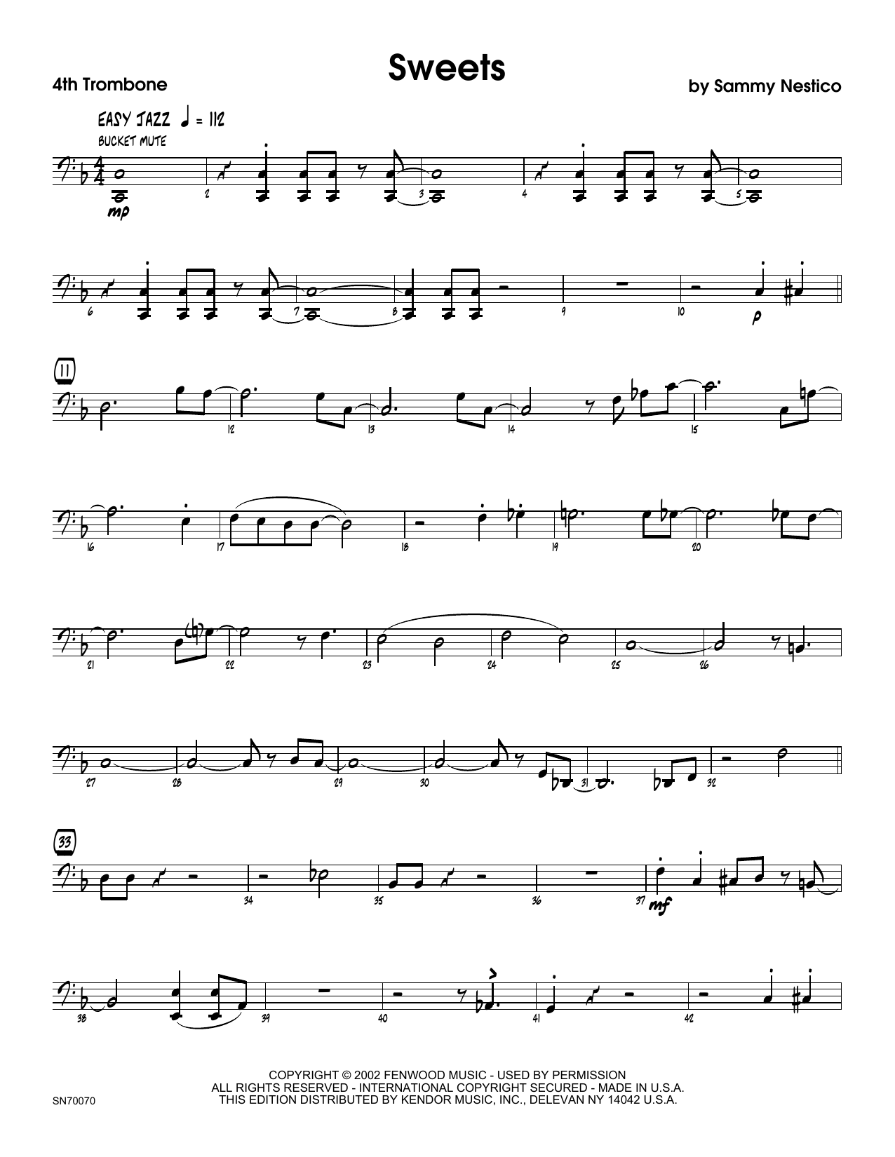Sweets - 4th Trombone Sheet Music