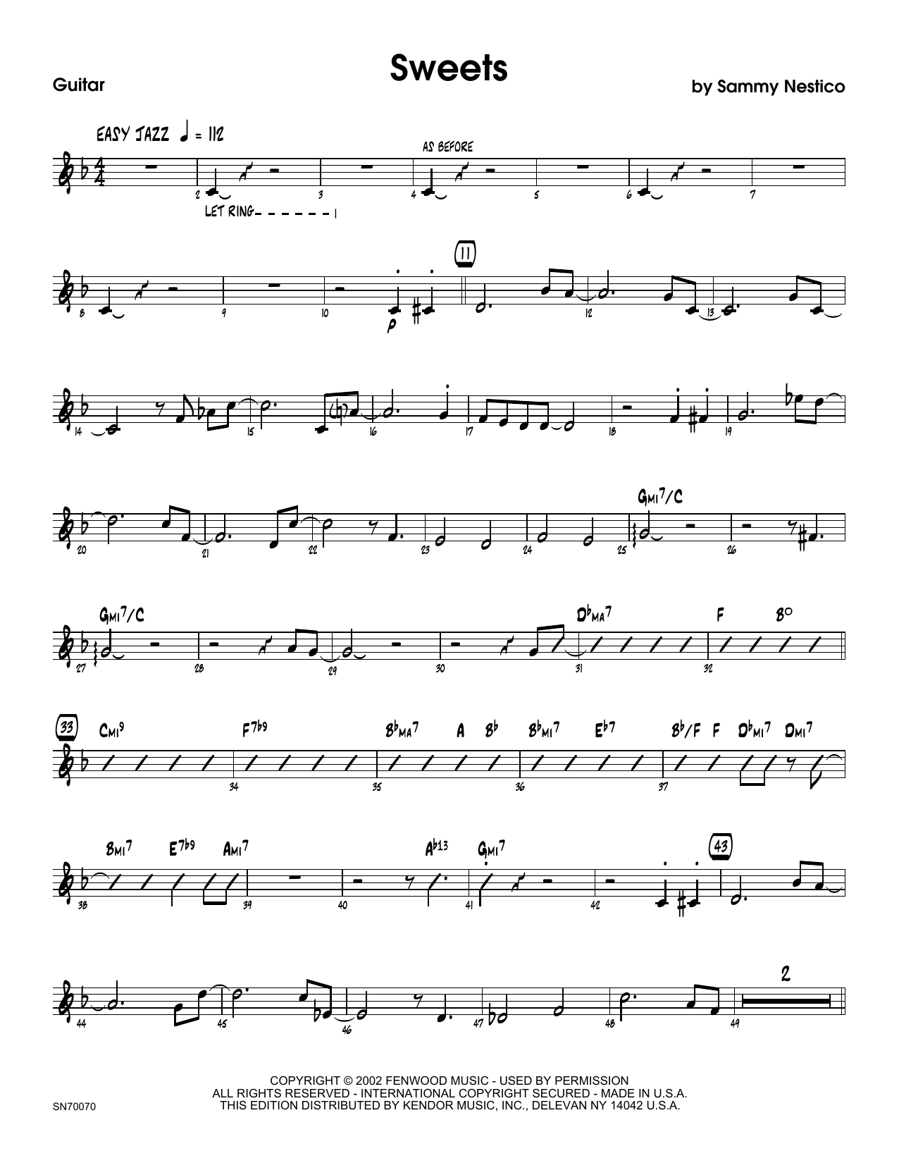 Sweets - Guitar Sheet Music