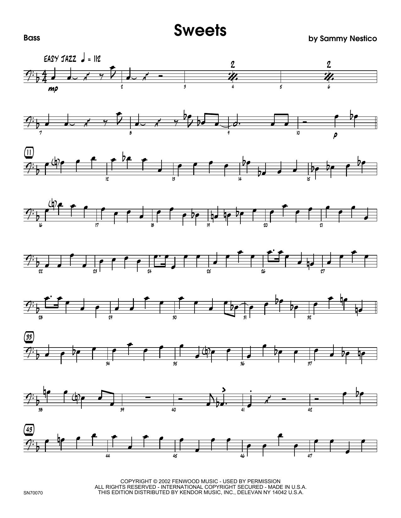 Sweets - Bass Sheet Music