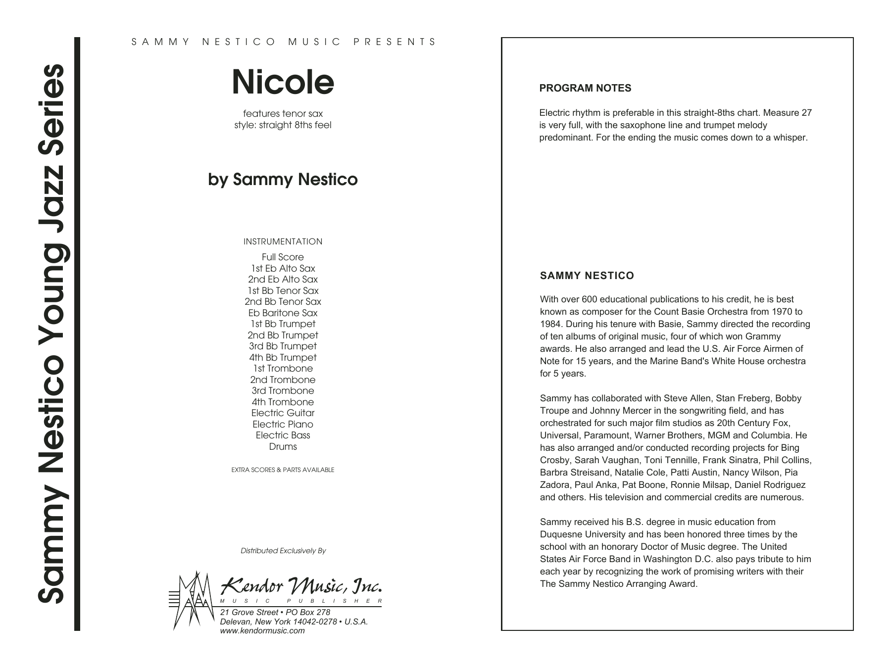 Nicole - Full Score Sheet Music