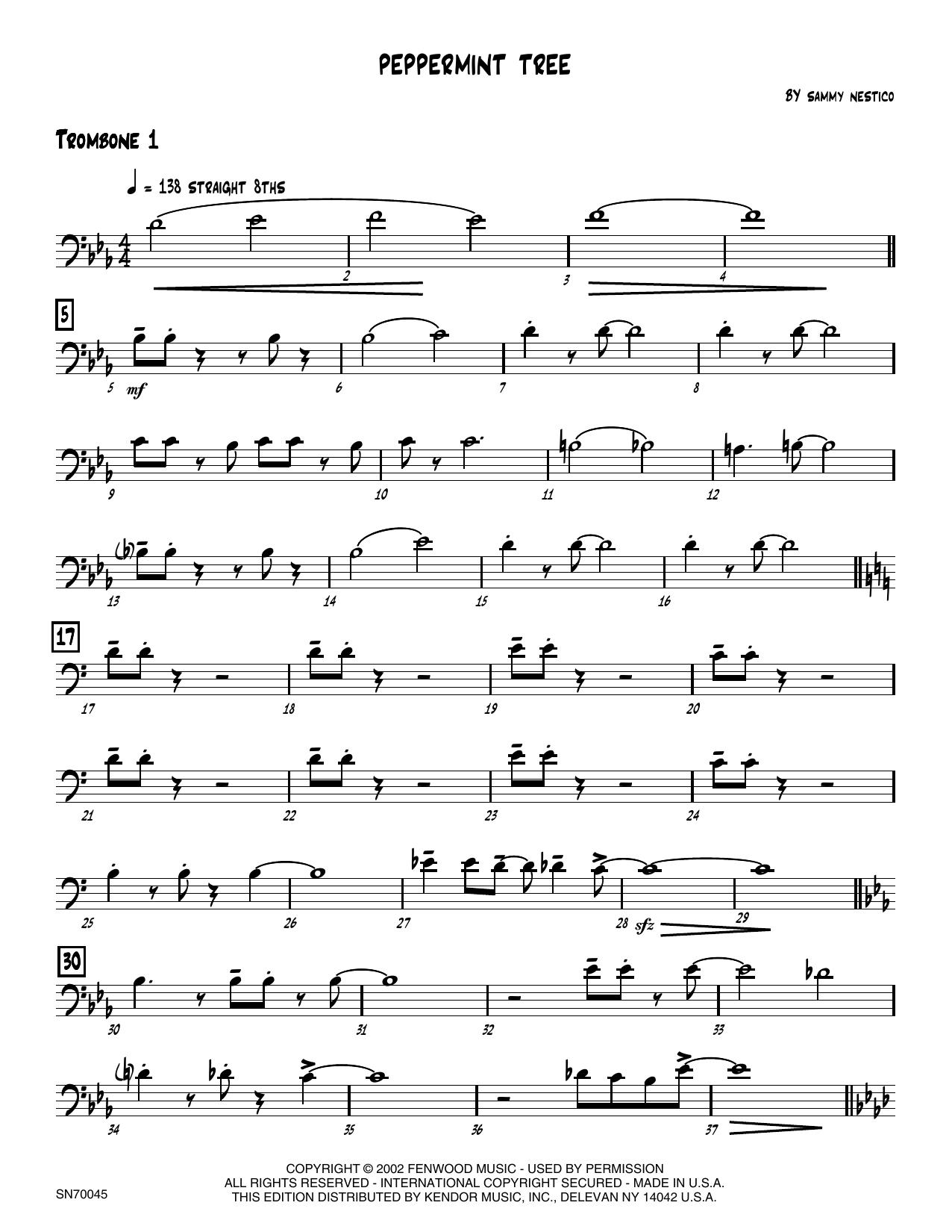 Peppermint Tree - 1st Trombone Sheet Music