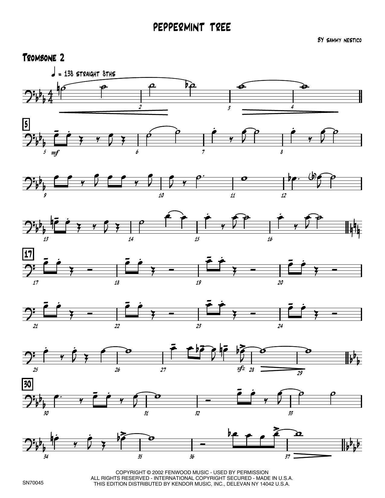 Peppermint Tree - 2nd Trombone Sheet Music