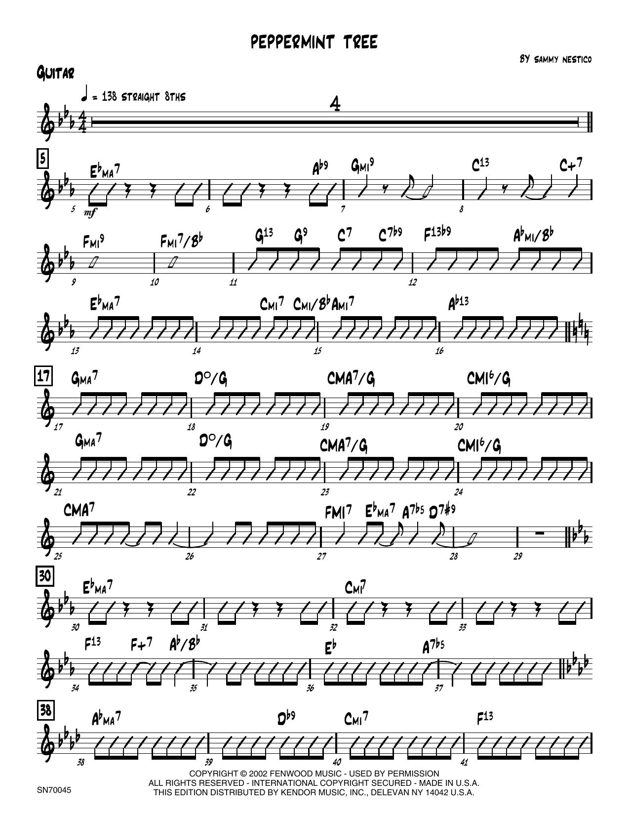 Peppermint Tree - Guitar Sheet Music