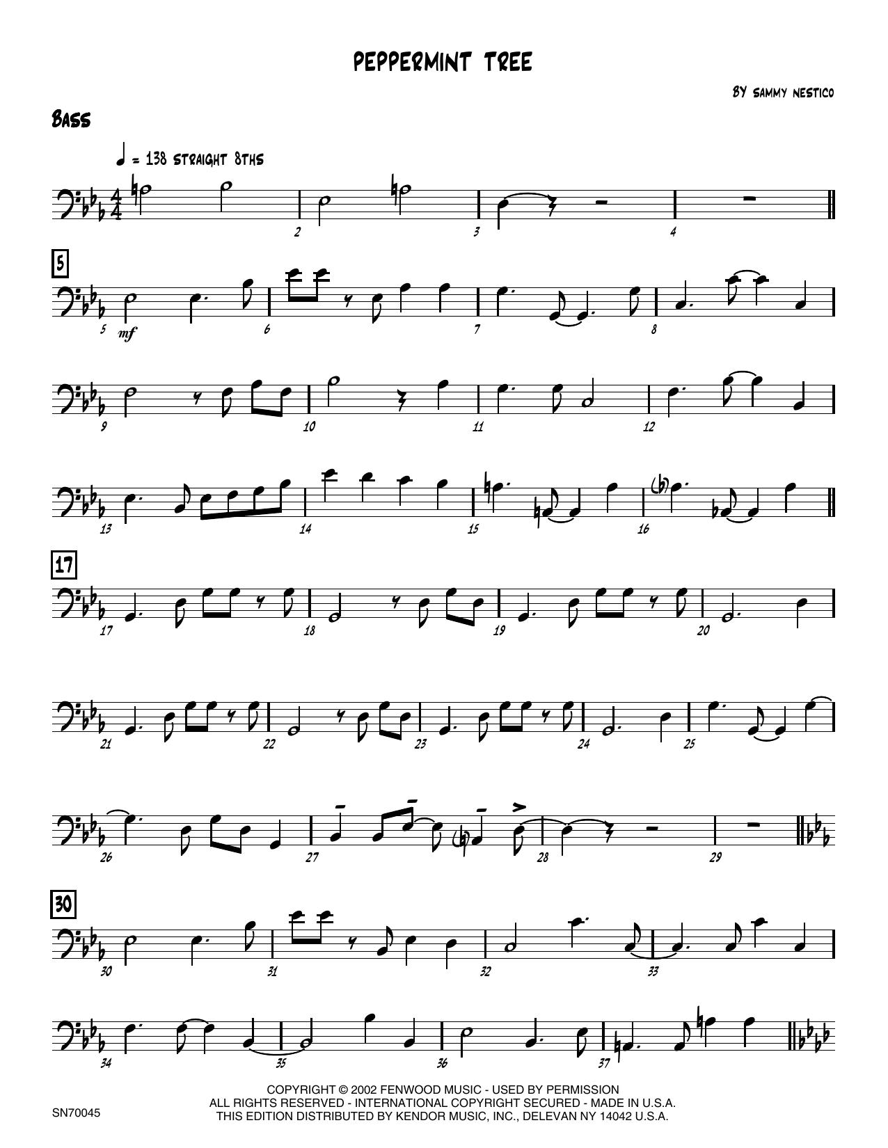Peppermint Tree - Bass Sheet Music