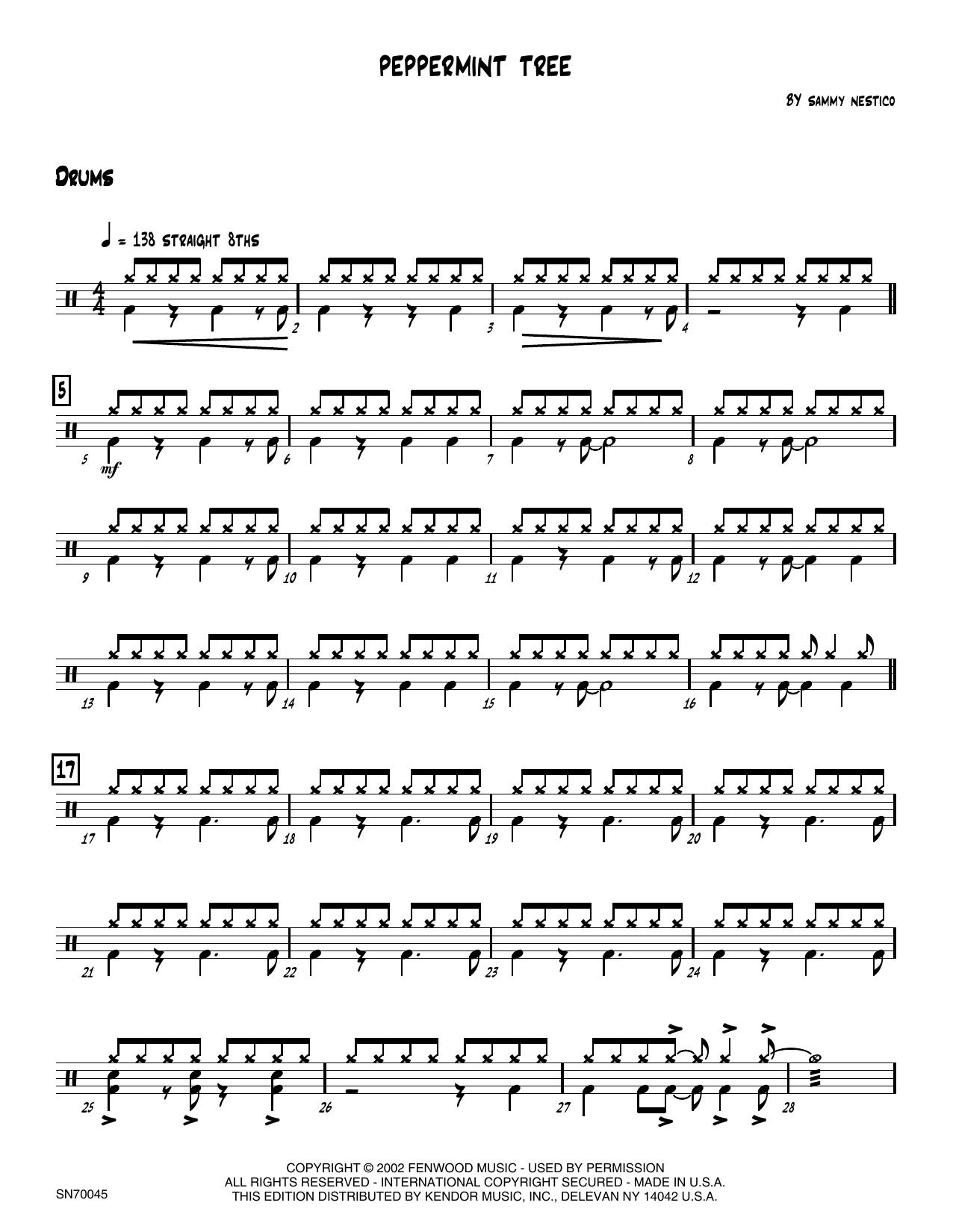 Peppermint Tree - Drum Set Sheet Music