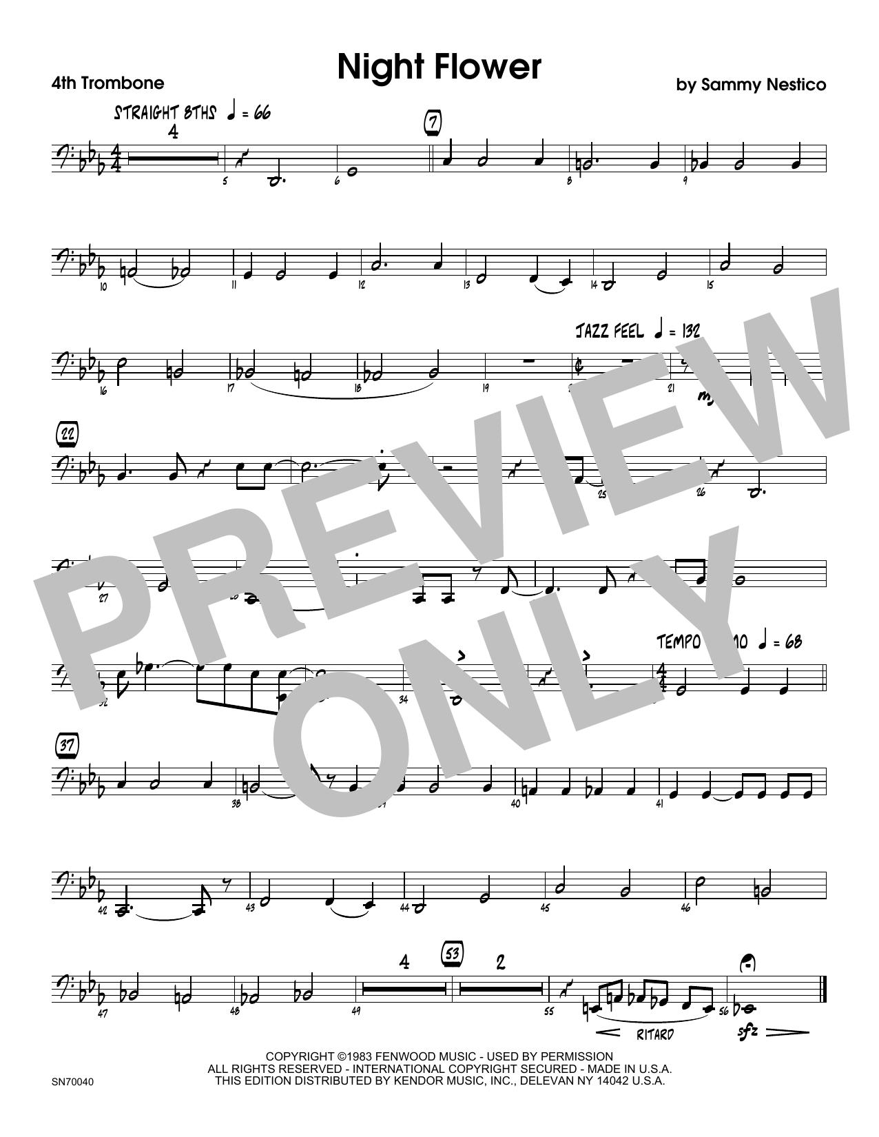Night Flower - 4th Trombone Sheet Music