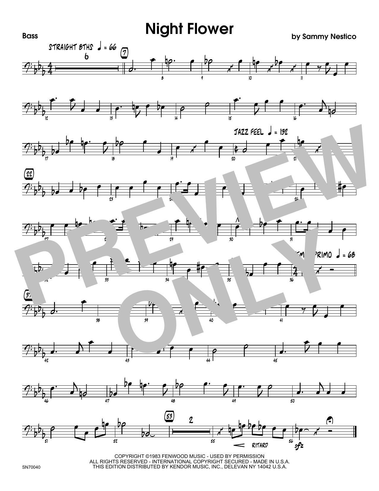 Night Flower - Bass Sheet Music