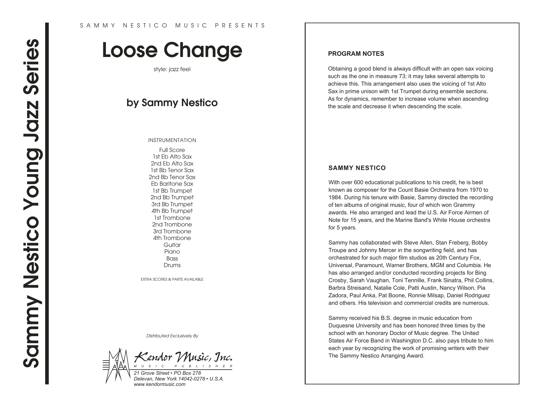 Loose Change (COMPLETE) sheet music for jazz band by Sammy Nestico. Score Image Preview.