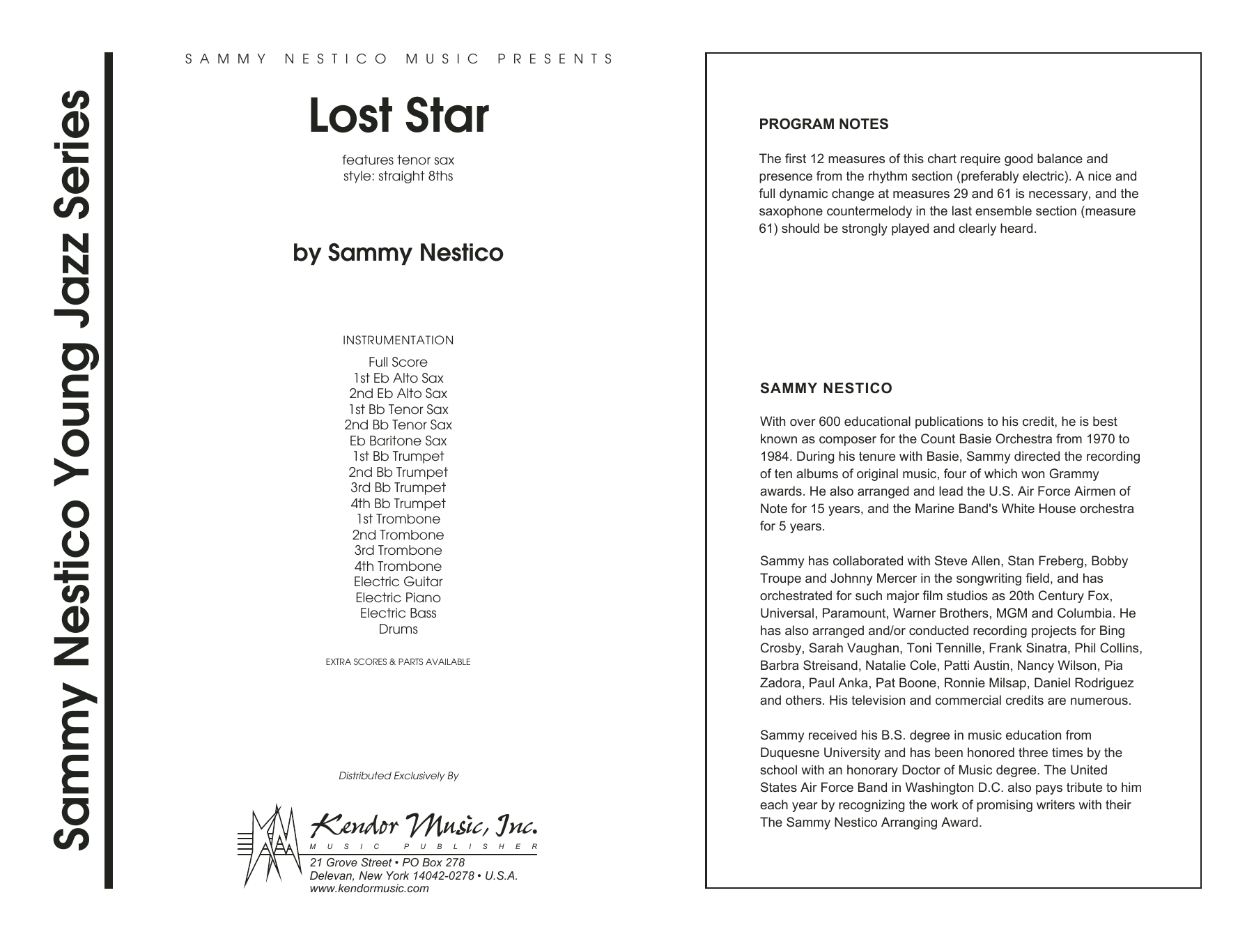 Lost Star (COMPLETE) sheet music for jazz band by Sammy Nestico. Score Image Preview.