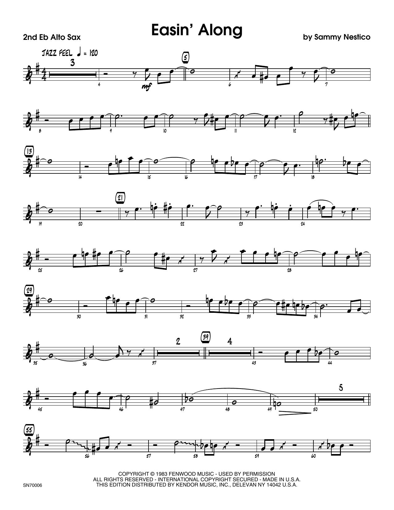 Easin' Along - 2nd Eb Alto Saxophone Sheet Music