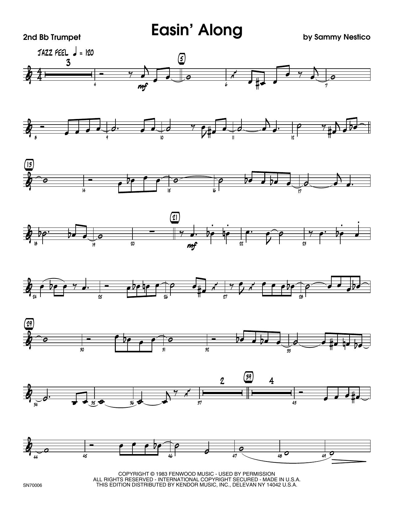 Easin' Along - 2nd Bb Trumpet Sheet Music