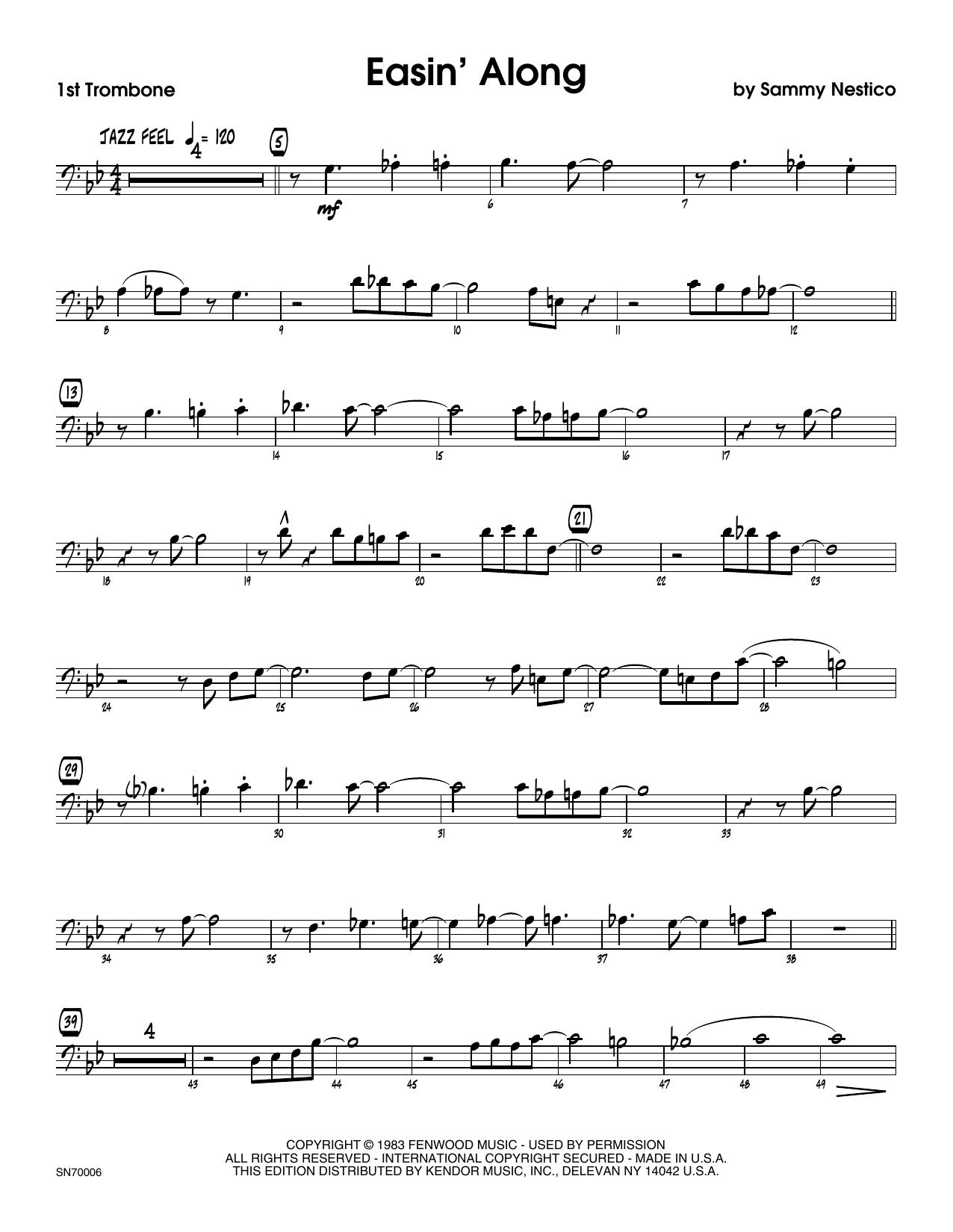 Easin' Along - 1st Trombone Sheet Music