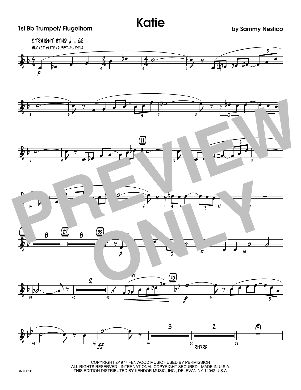 Katie - 1st Bb Trumpet Sheet Music