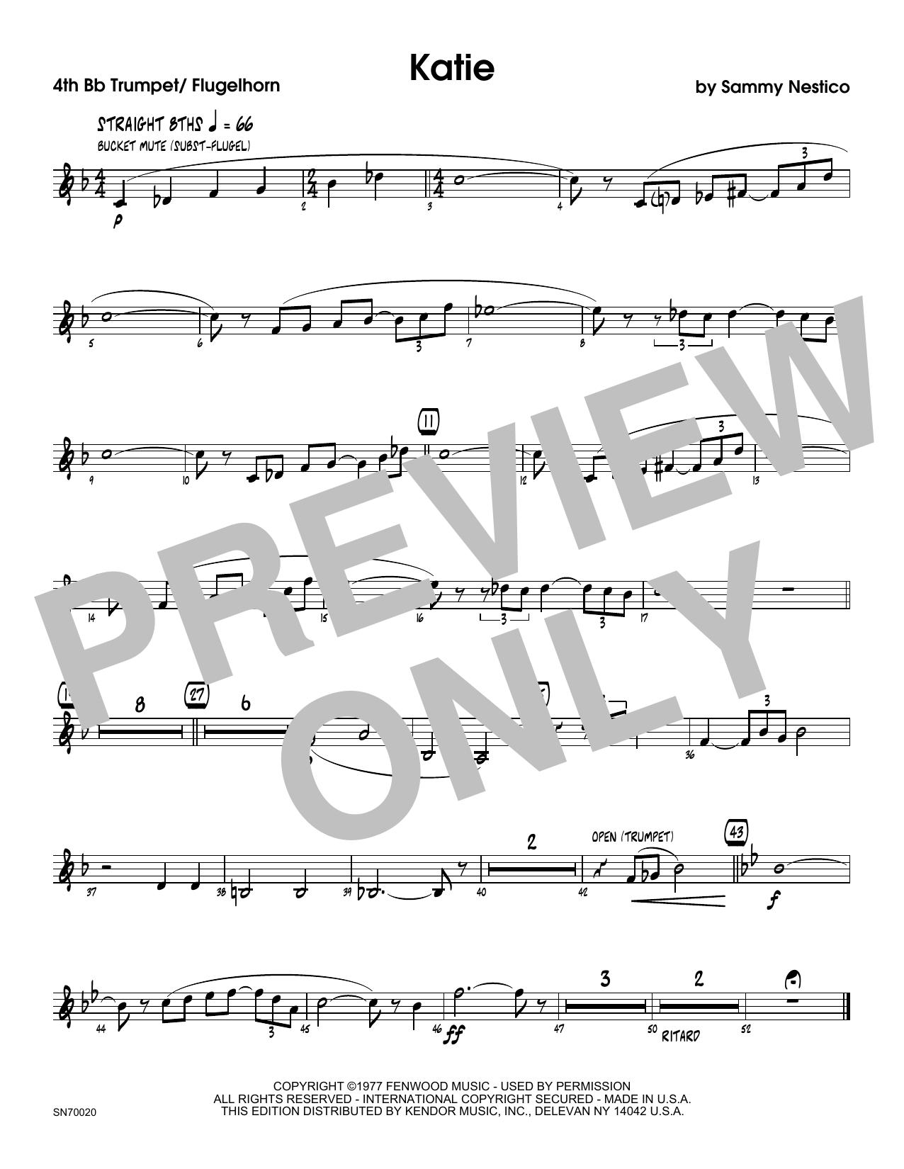 Katie - 4th Bb Trumpet Sheet Music