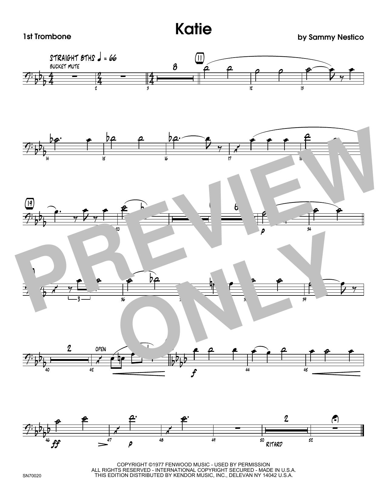 Katie - 1st Trombone Sheet Music