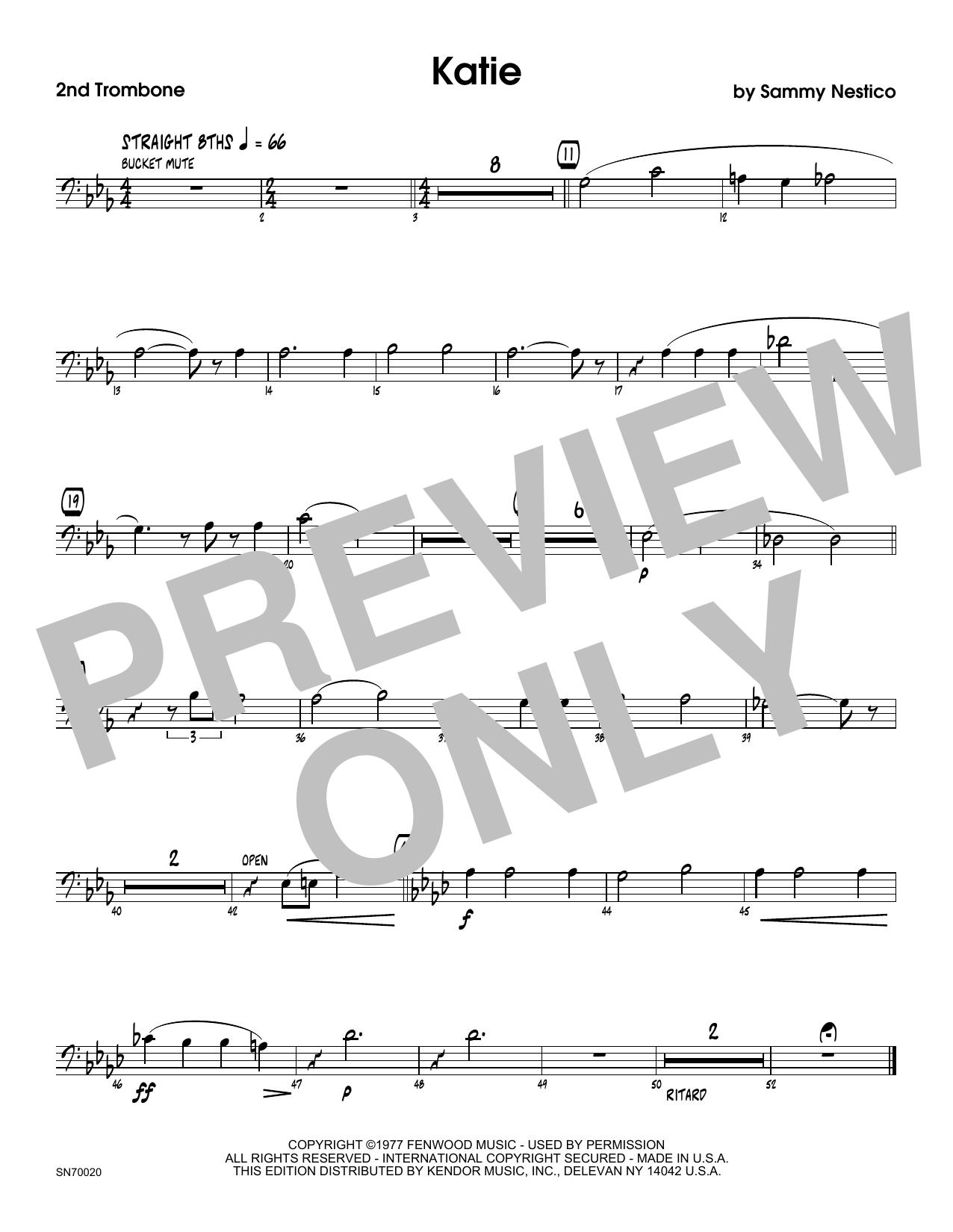 Katie - 2nd Trombone Sheet Music