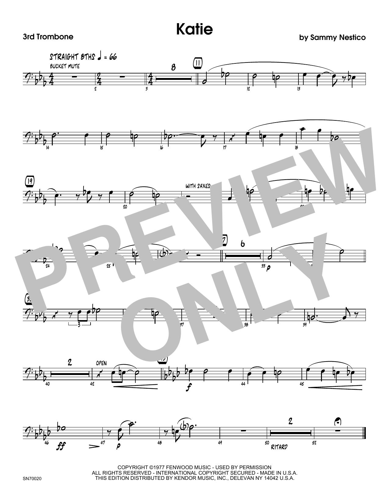 Katie - 3rd Trombone Sheet Music