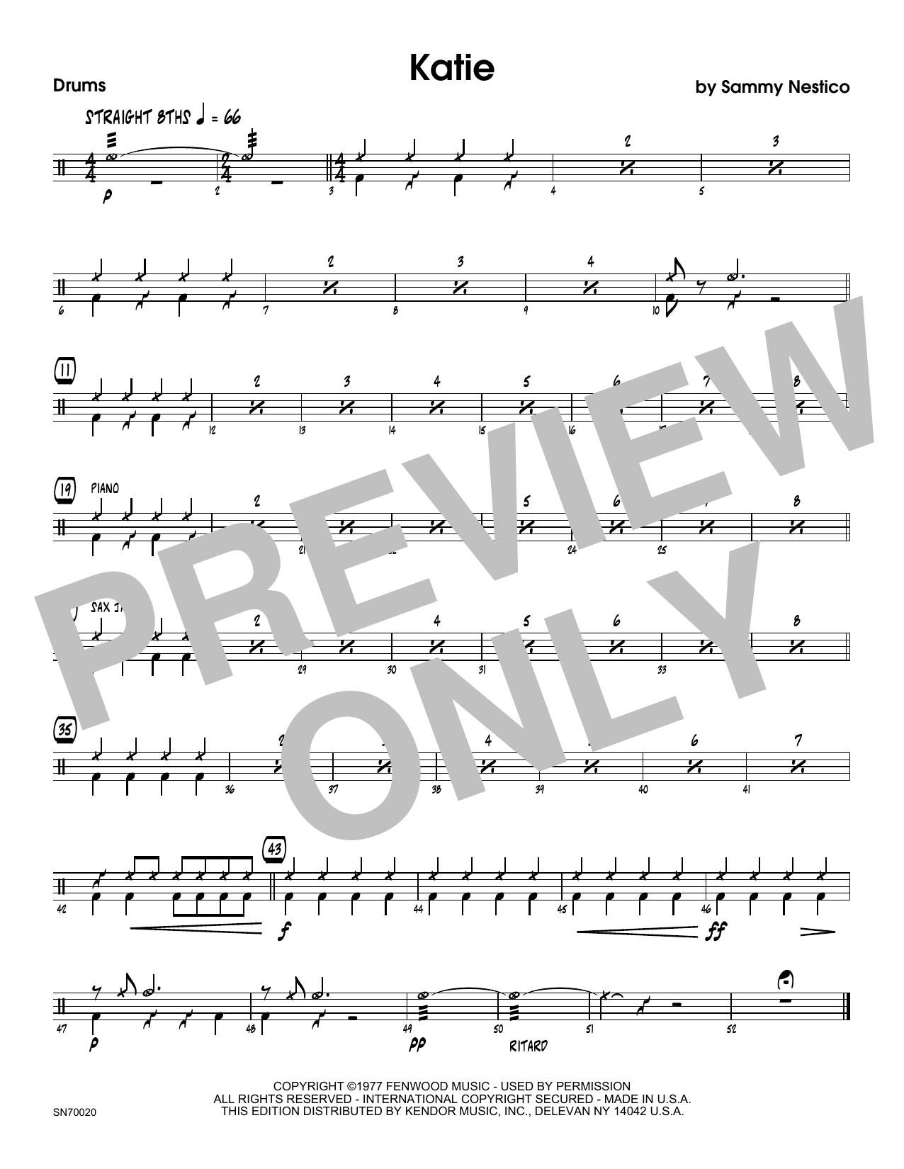 Katie - Drum Set Sheet Music