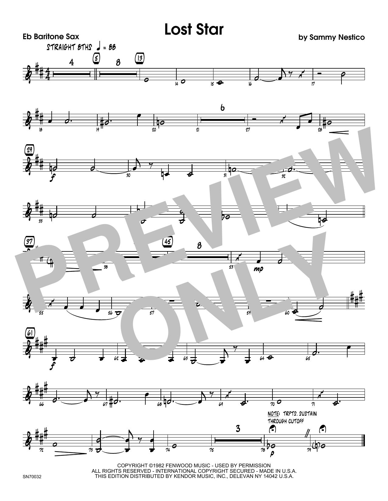 Lost Star - Eb Baritone Saxophone Sheet Music