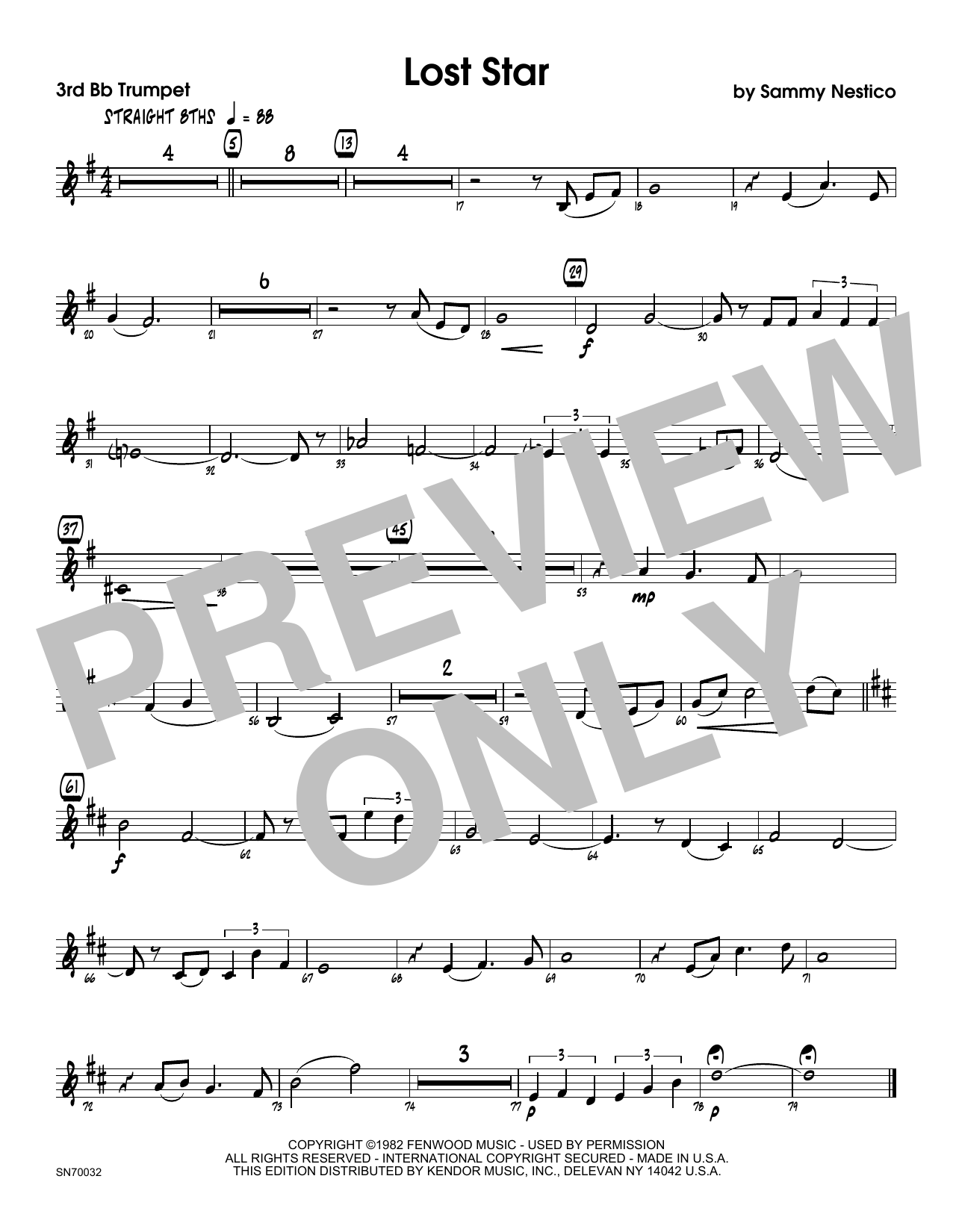 Lost Star - 3rd Bb Trumpet Sheet Music