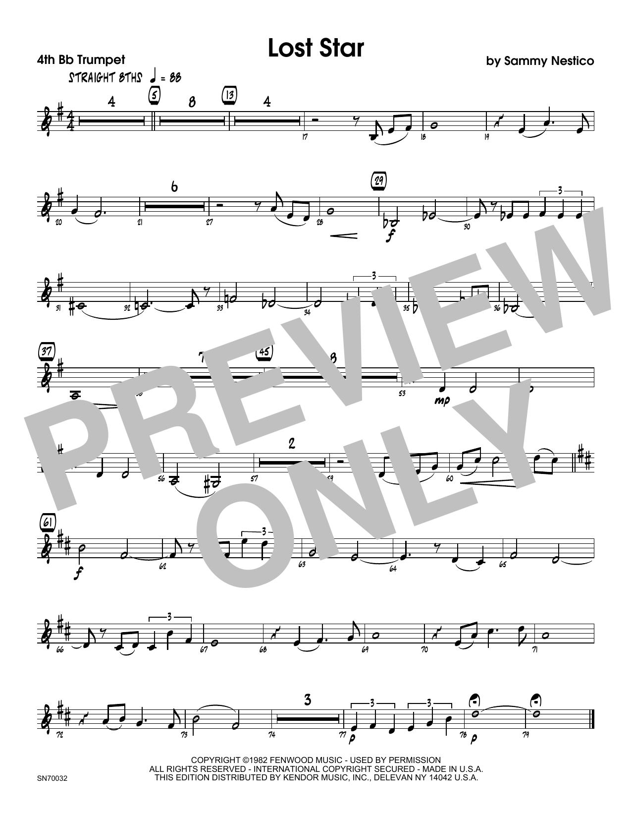 Lost Star - 4th Bb Trumpet Sheet Music