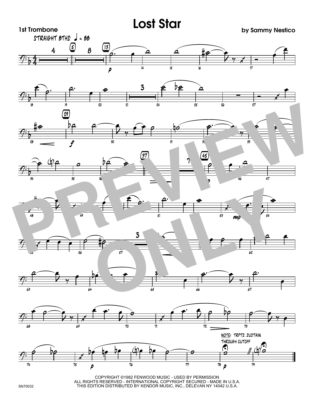 Lost Star - 1st Trombone Sheet Music
