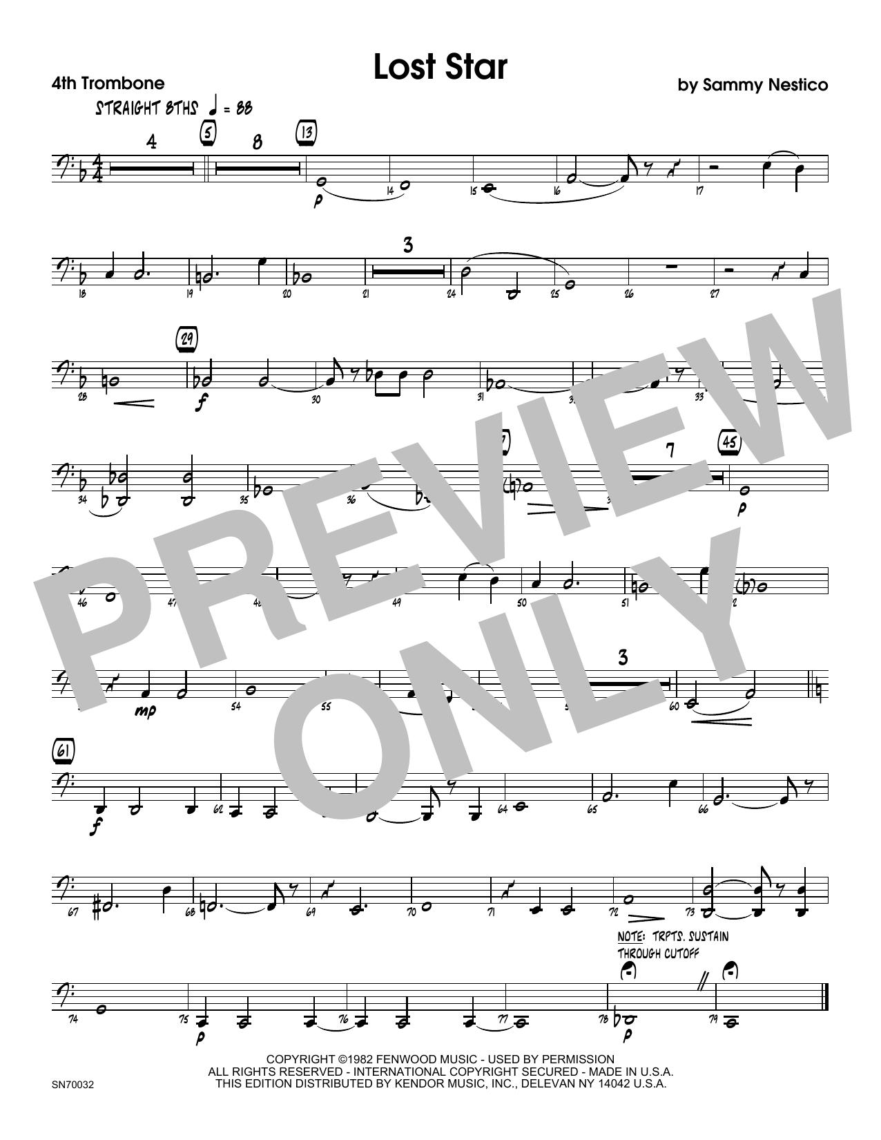 Lost Star - 4th Trombone Sheet Music