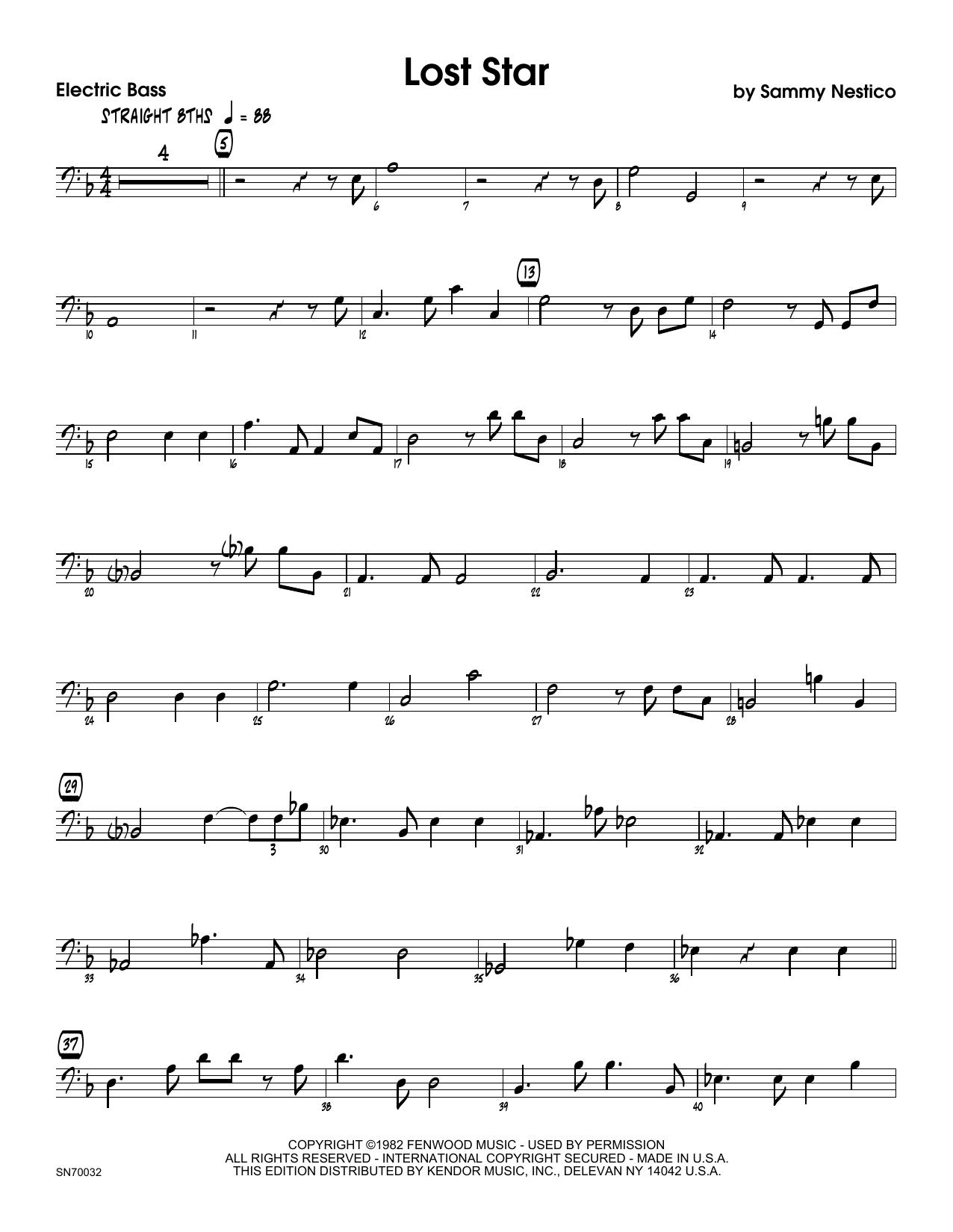 Lost Star - Bass Sheet Music