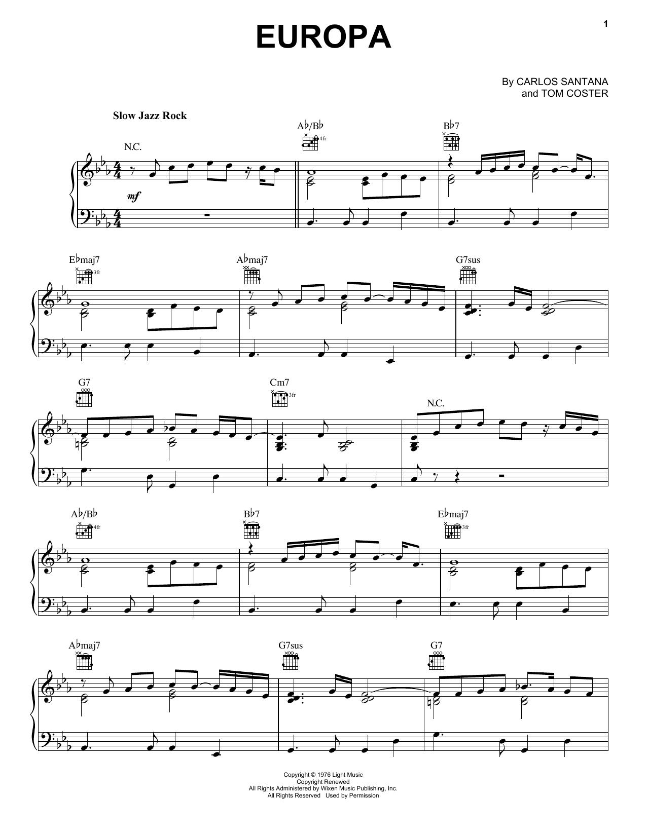 Europa (Piano Solo)