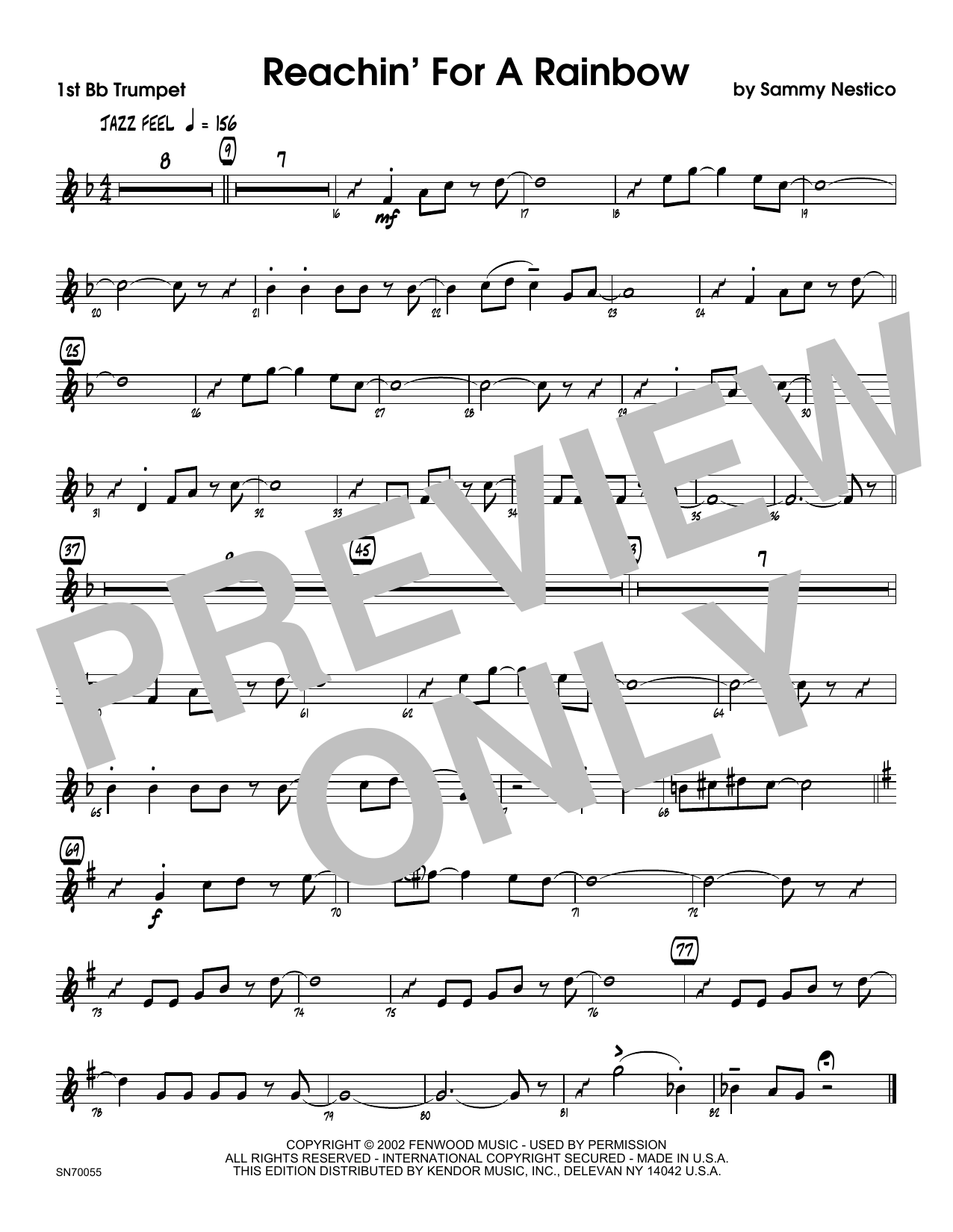 Reachin' For A Rainbow - 1st Bb Trumpet Sheet Music