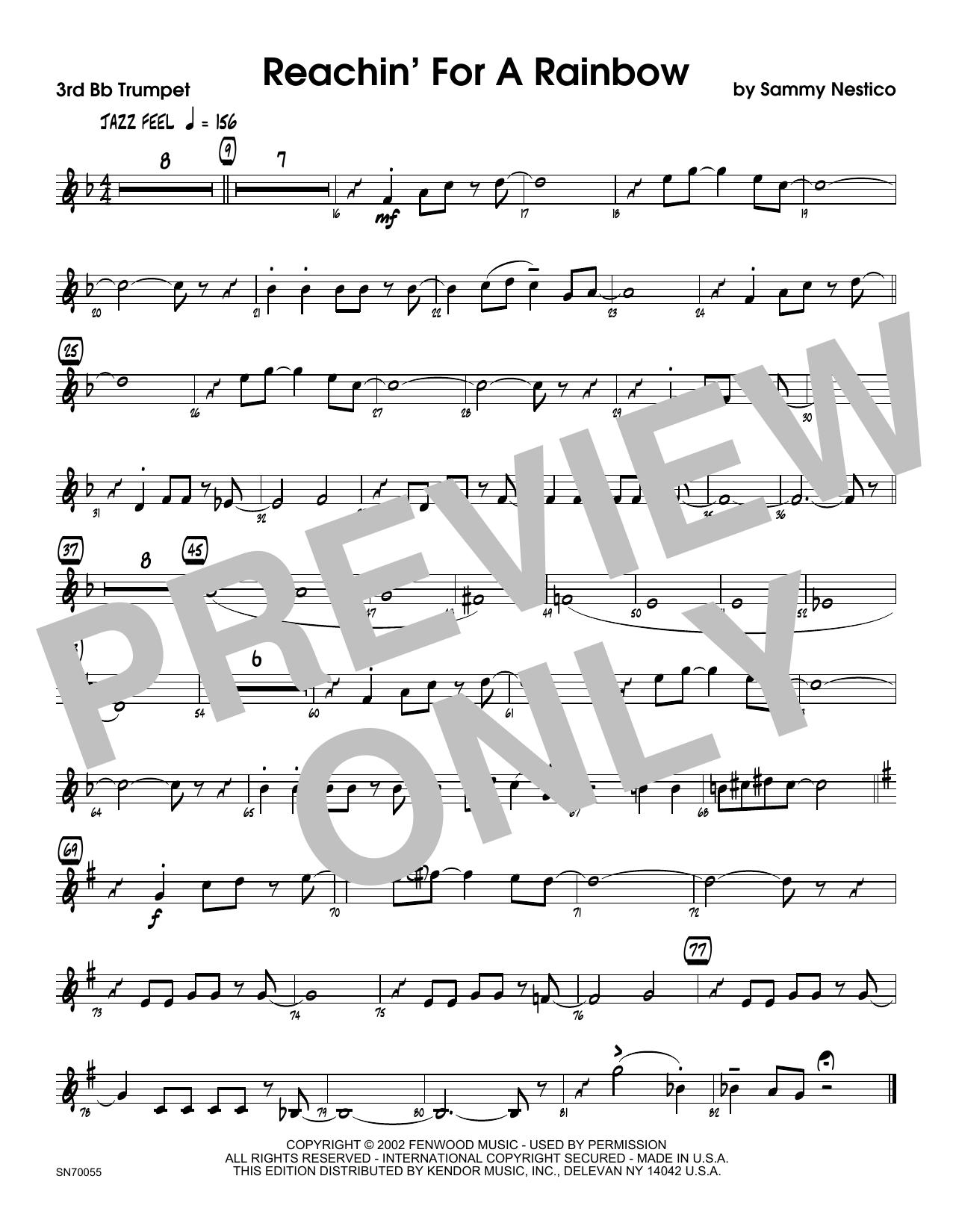 Reachin' For A Rainbow - 3rd Bb Trumpet Sheet Music