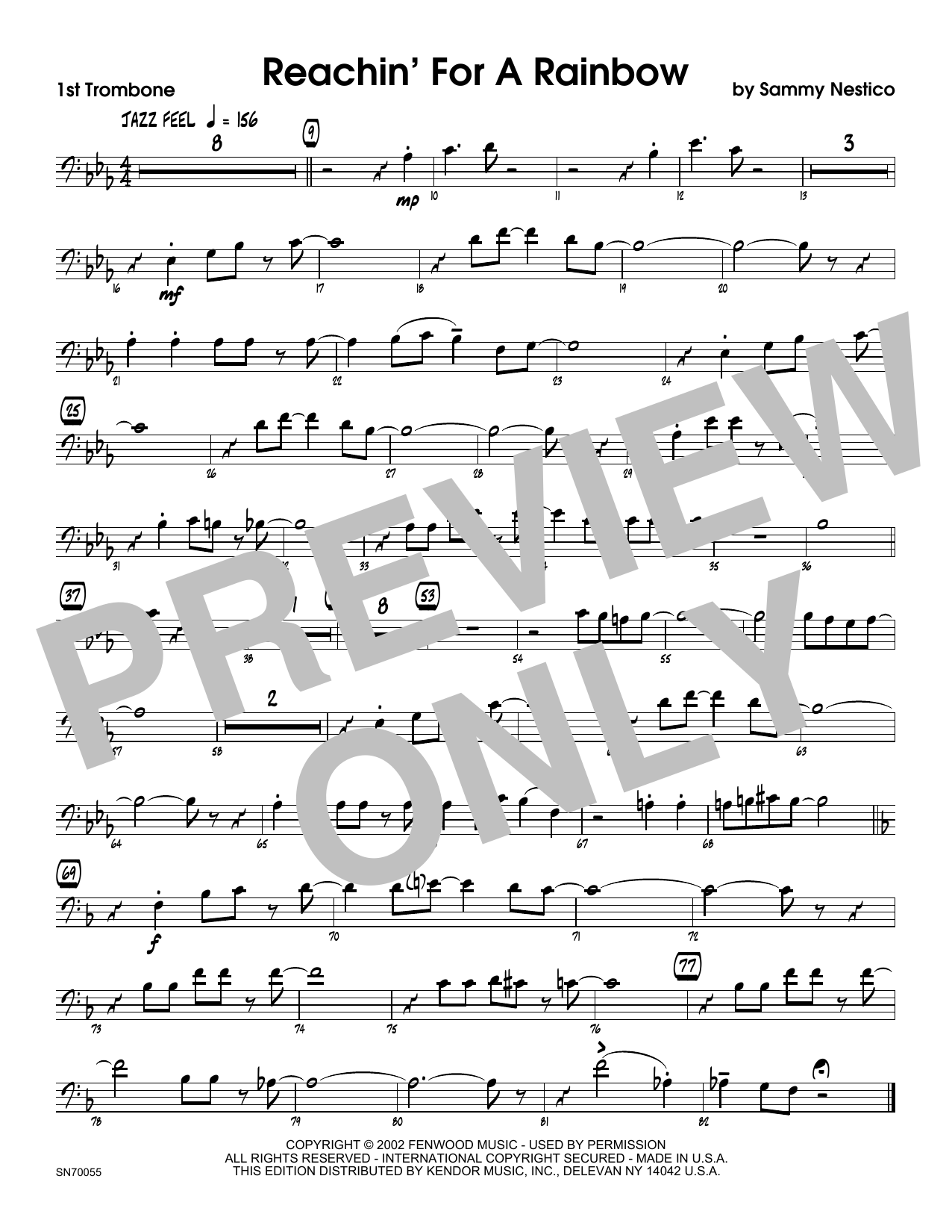 Reachin' For A Rainbow - 1st Trombone Sheet Music