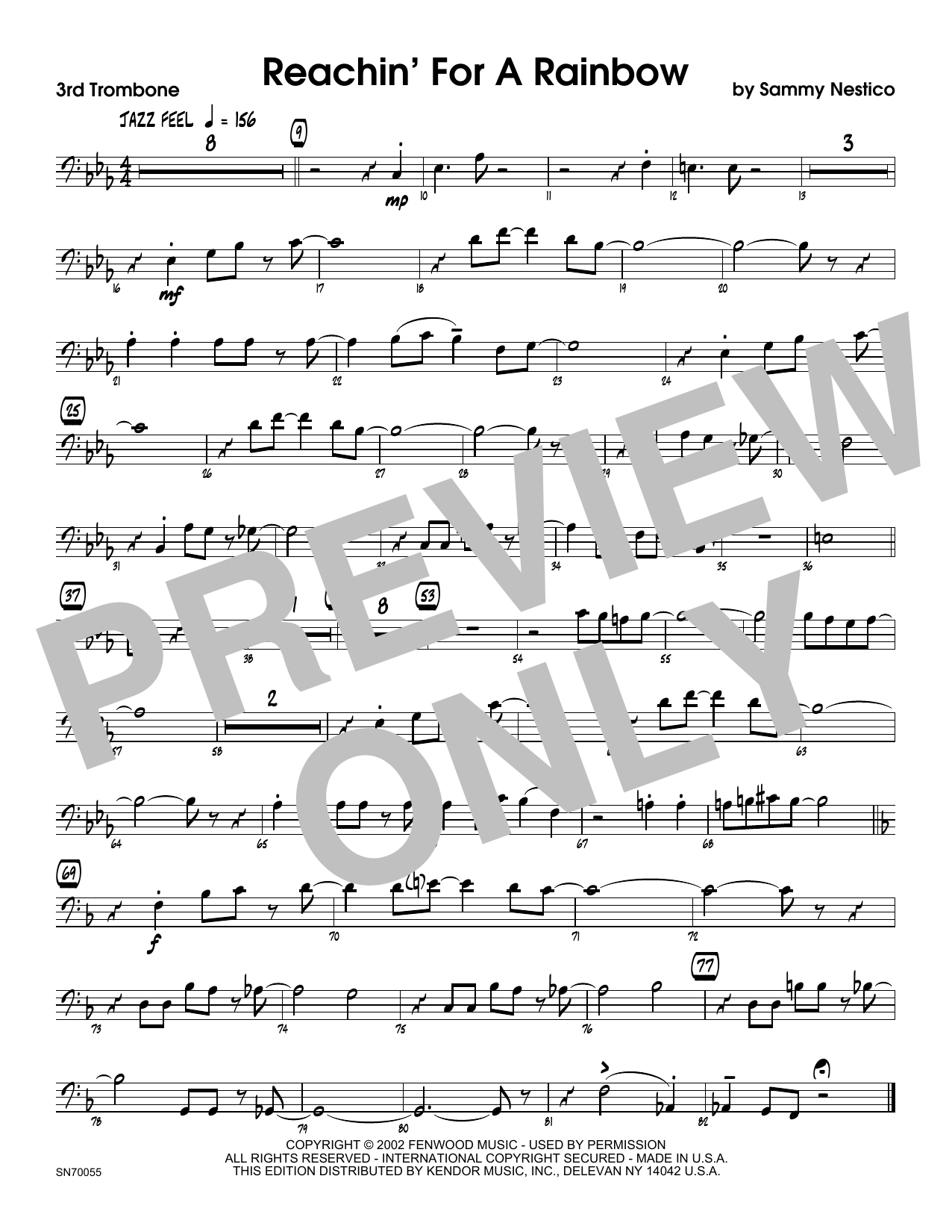 Reachin' For A Rainbow - 3rd Trombone Sheet Music