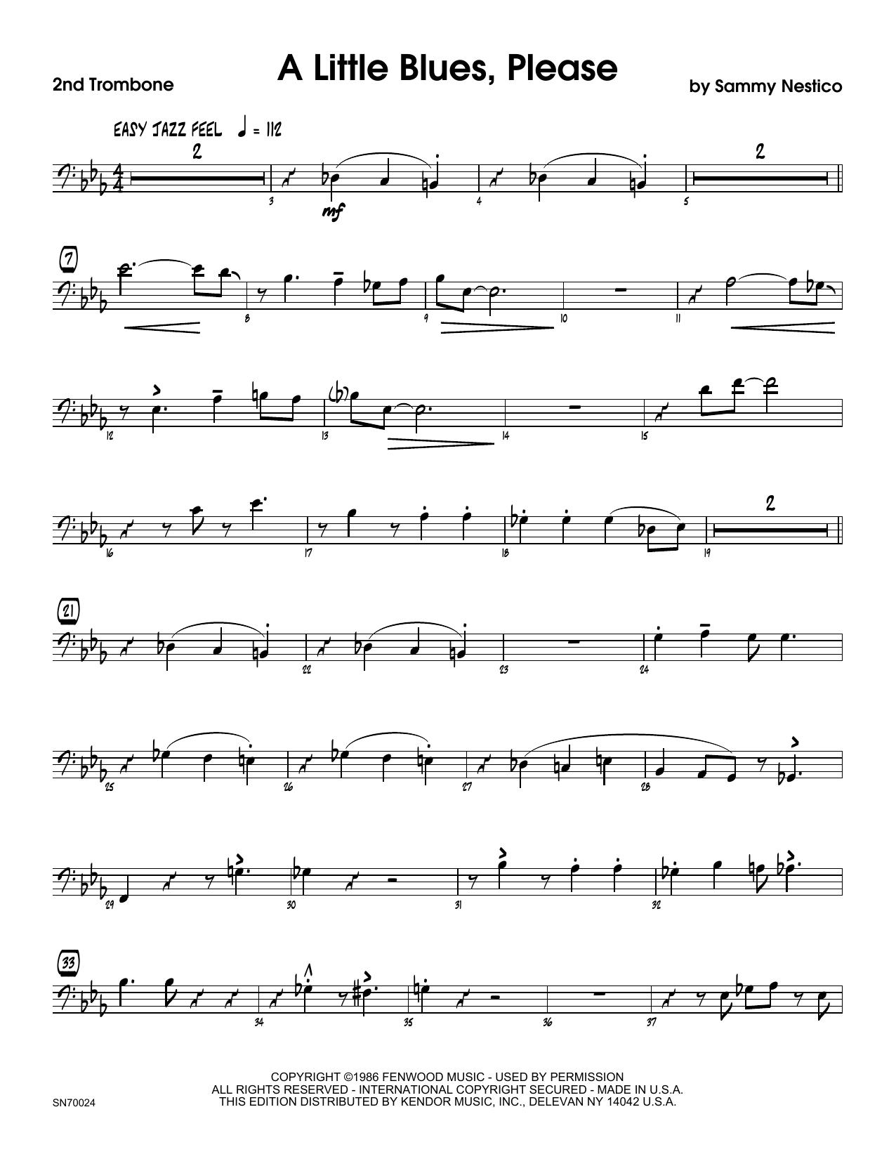 A Little Blues, Please - 2nd Trombone Sheet Music