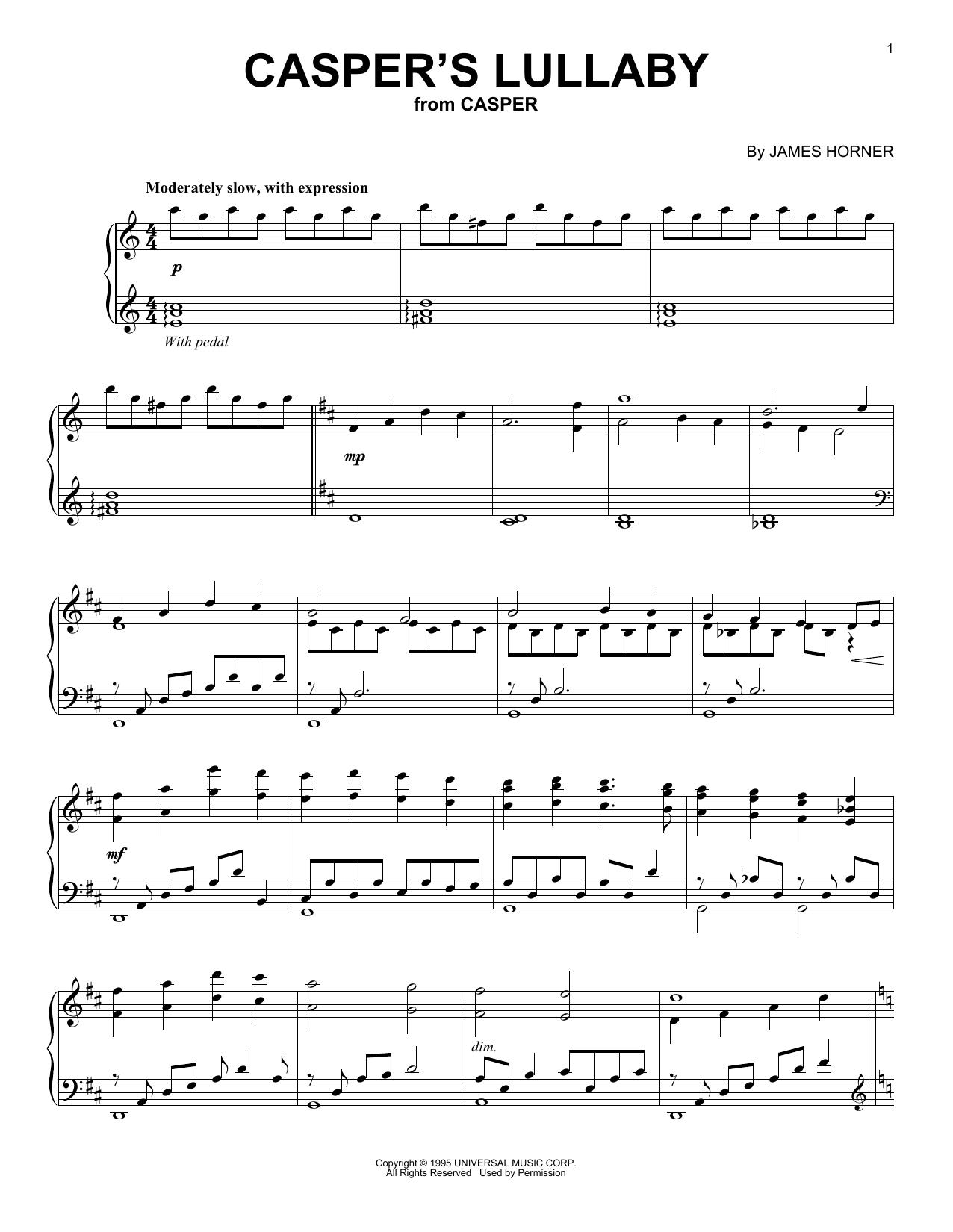 Casper's Lullaby (Piano Solo)