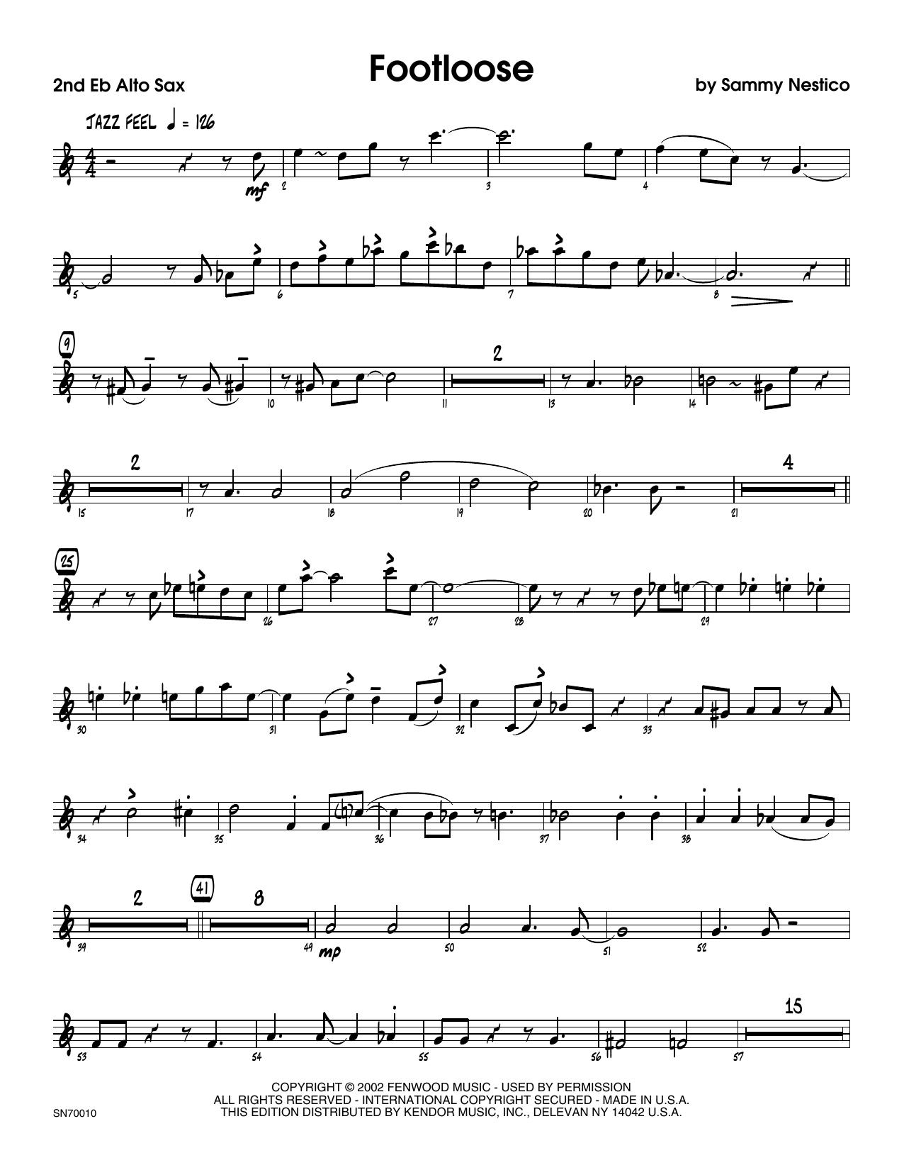 Footloose - 2nd Eb Alto Saxophone Sheet Music