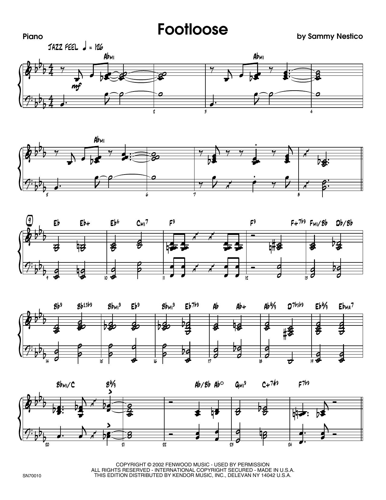 Footloose - Piano Sheet Music
