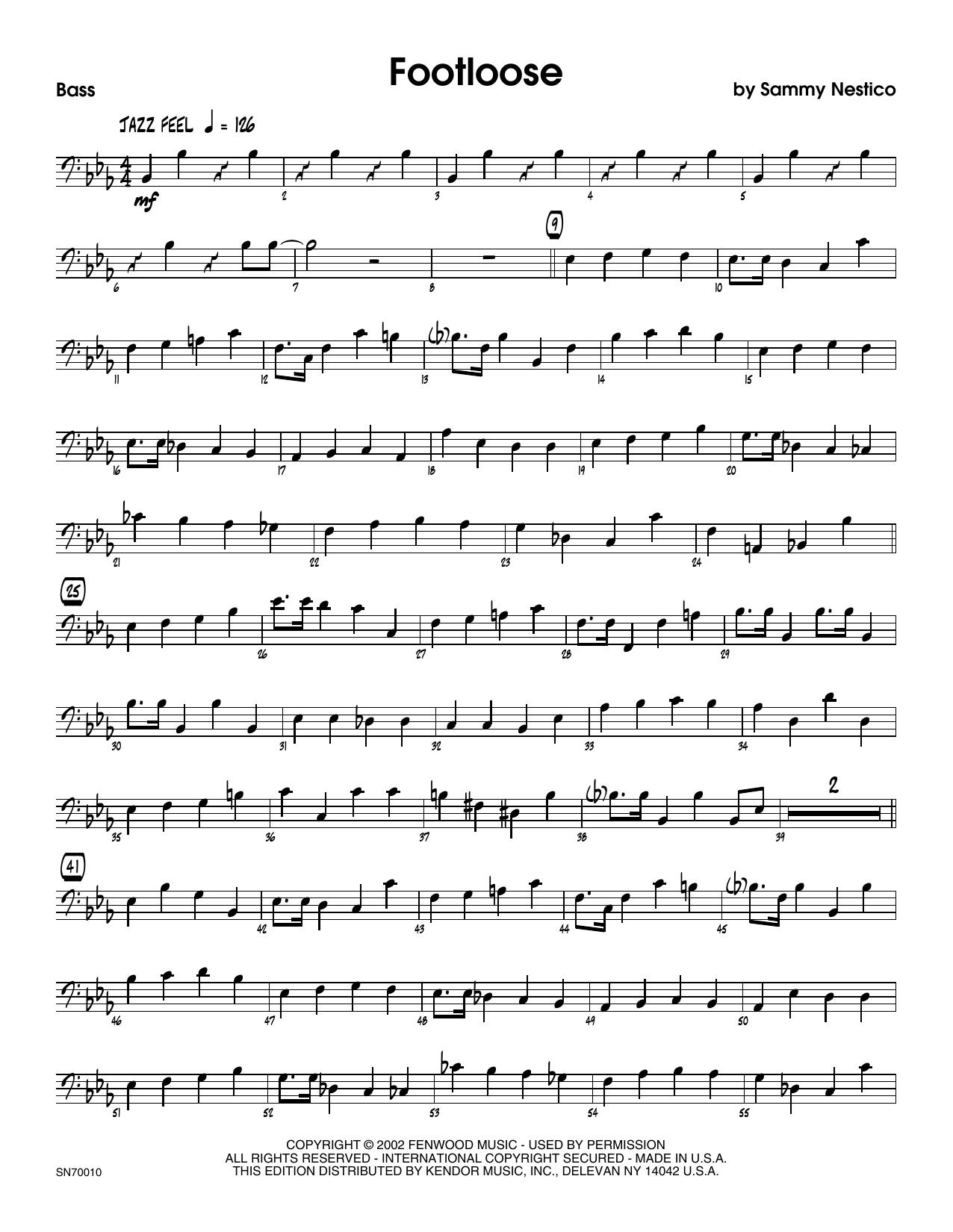 Footloose - Bass Sheet Music