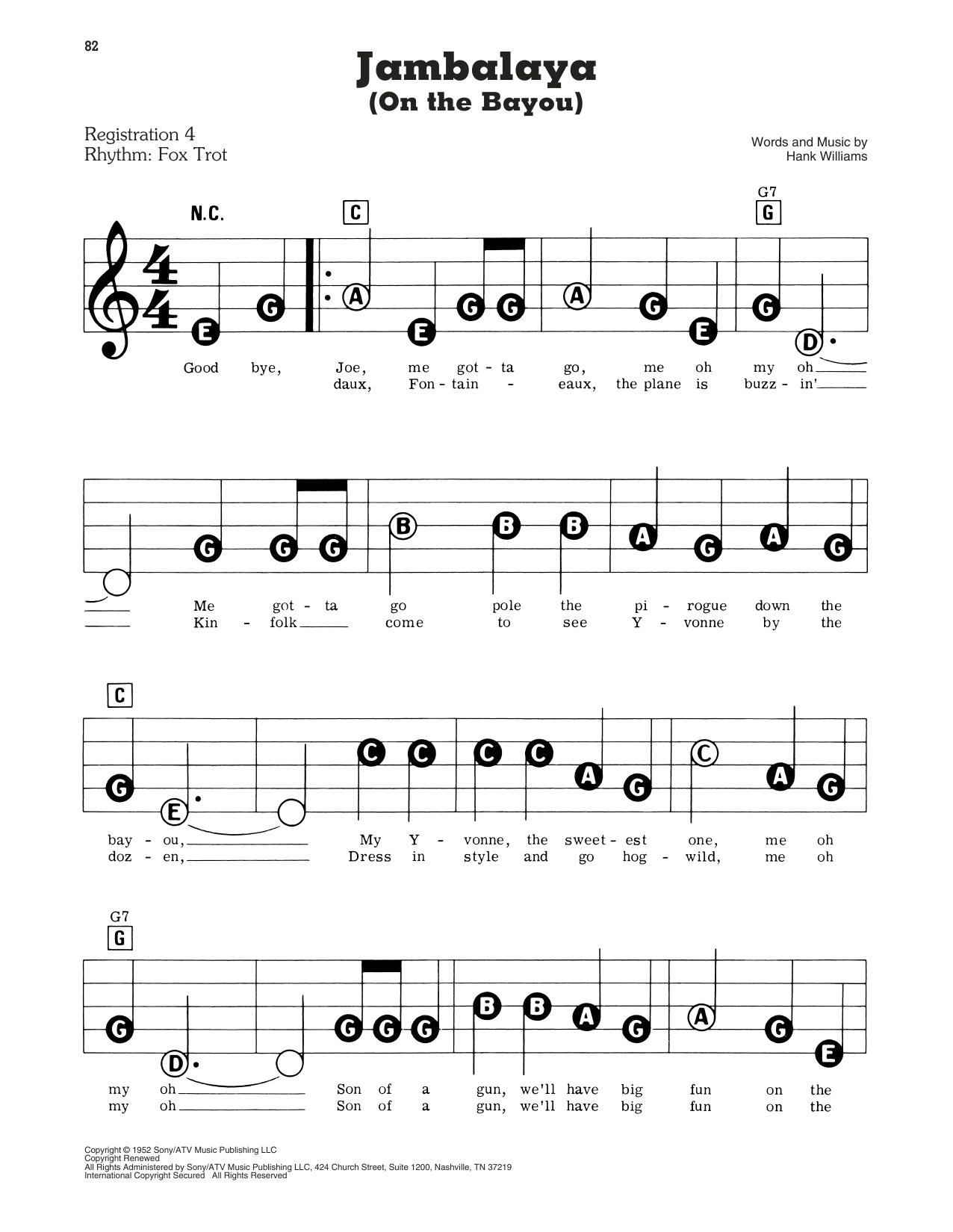 Jambalaya (On The Bayou) (E-Z Play Today)