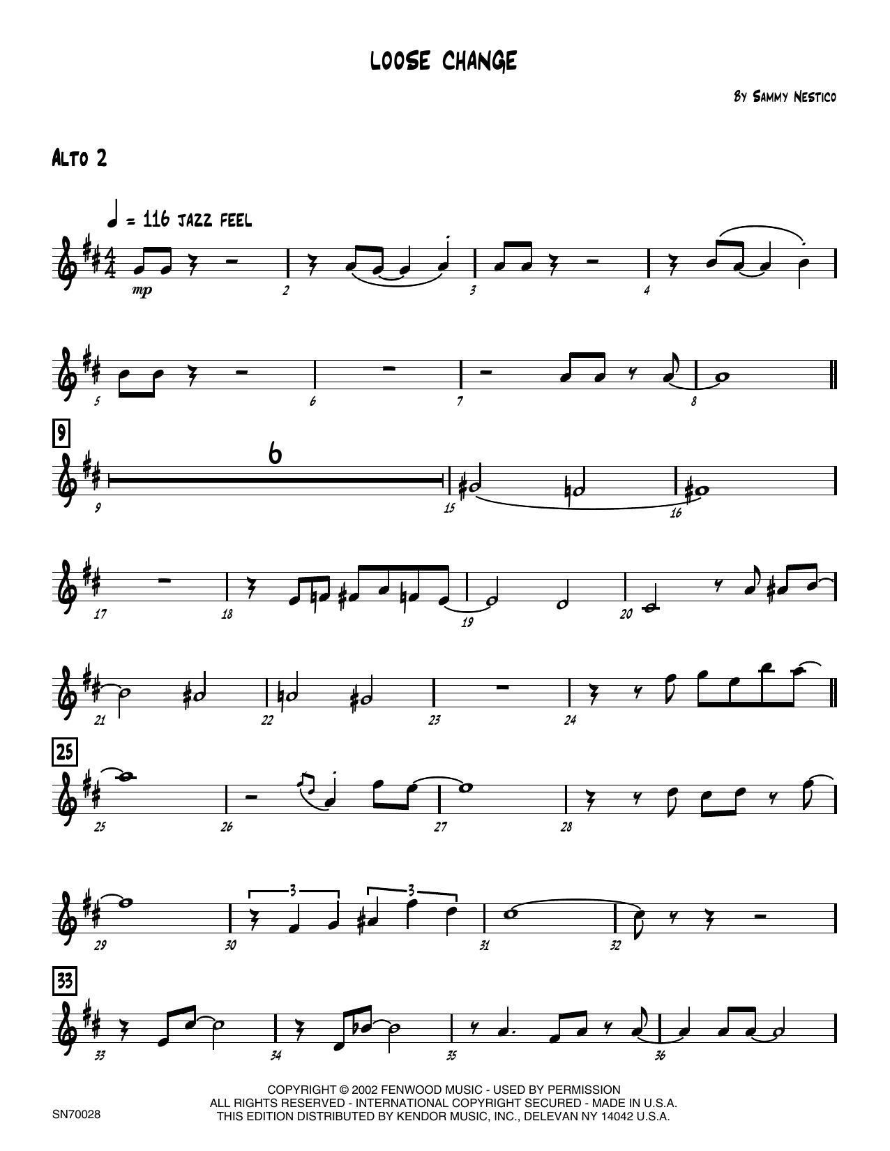 Loose Change - 2nd Eb Alto Saxophone Sheet Music