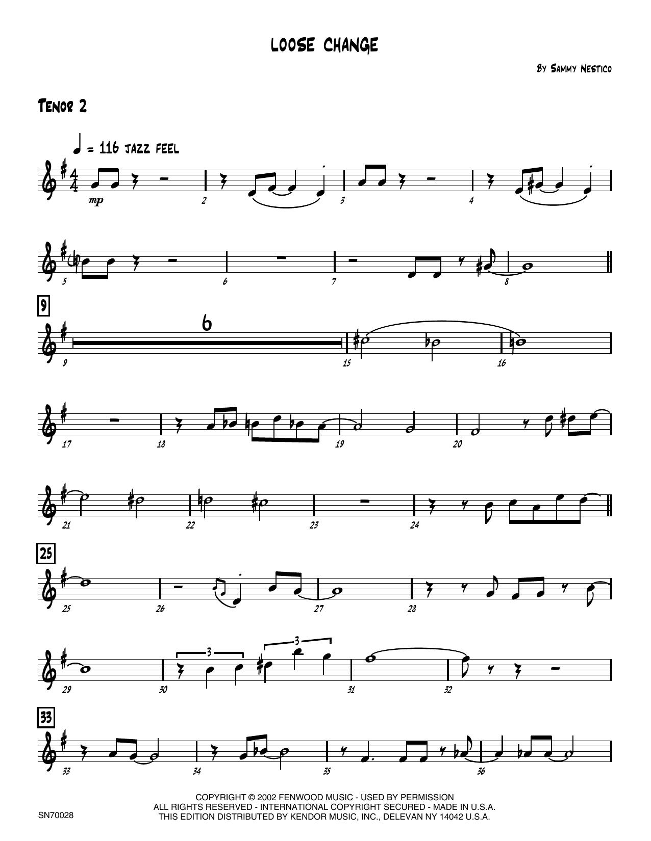 Loose Change - 2nd Bb Tenor Saxophone Sheet Music