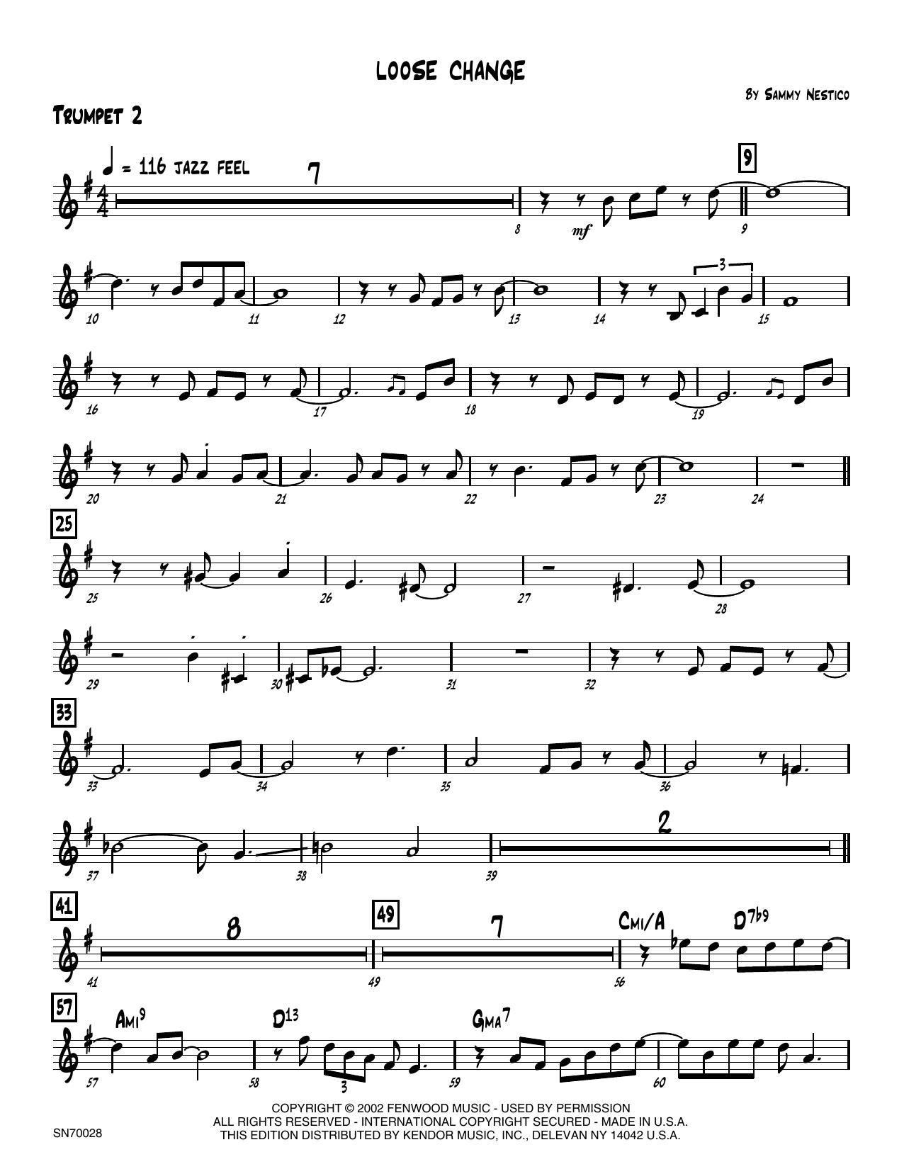 Loose Change - 2nd Bb Trumpet Sheet Music